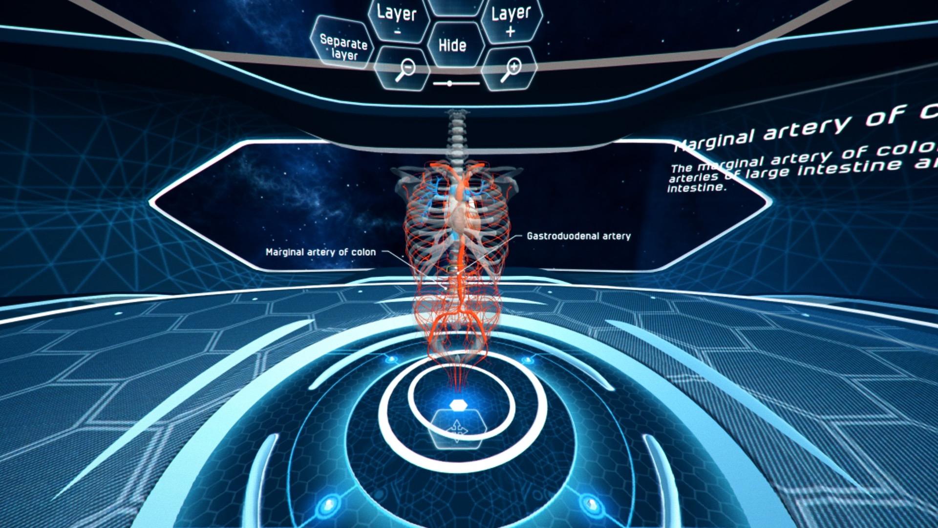 Aplikace Virtuální anatomická učebna