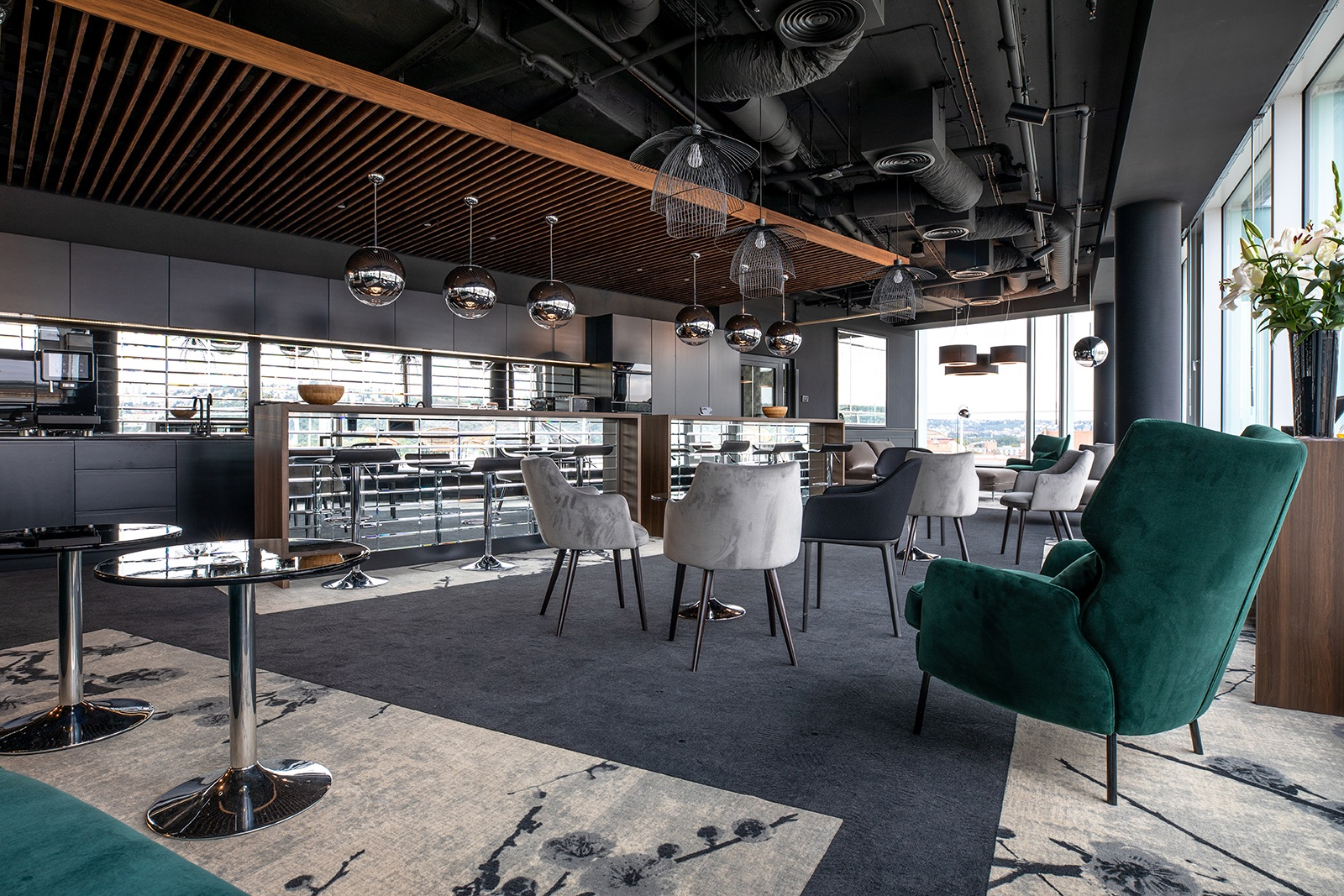 Jídelní prostory inspirované newyorskými lokacemi