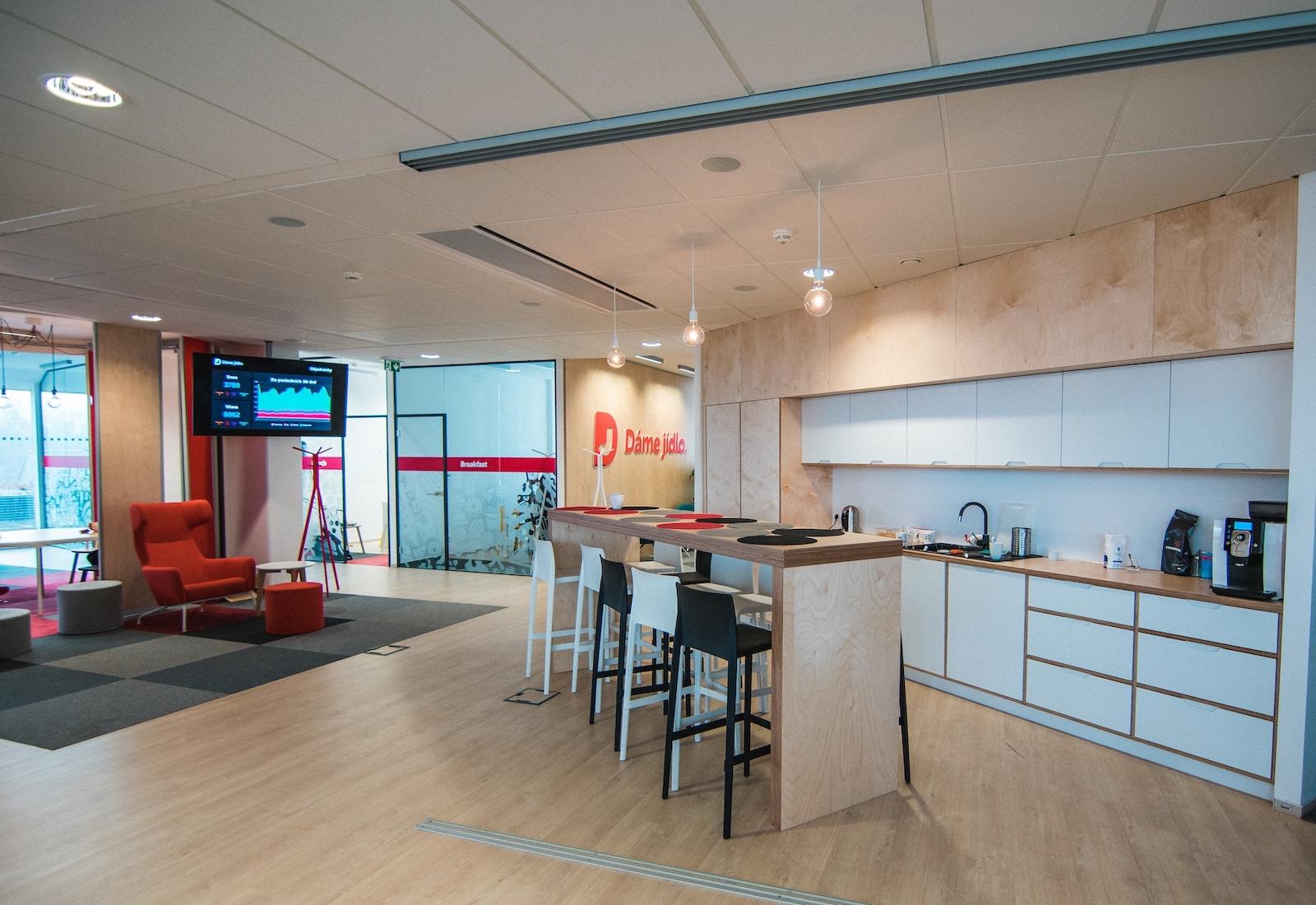 Nové kanceláře Dáme jídlo