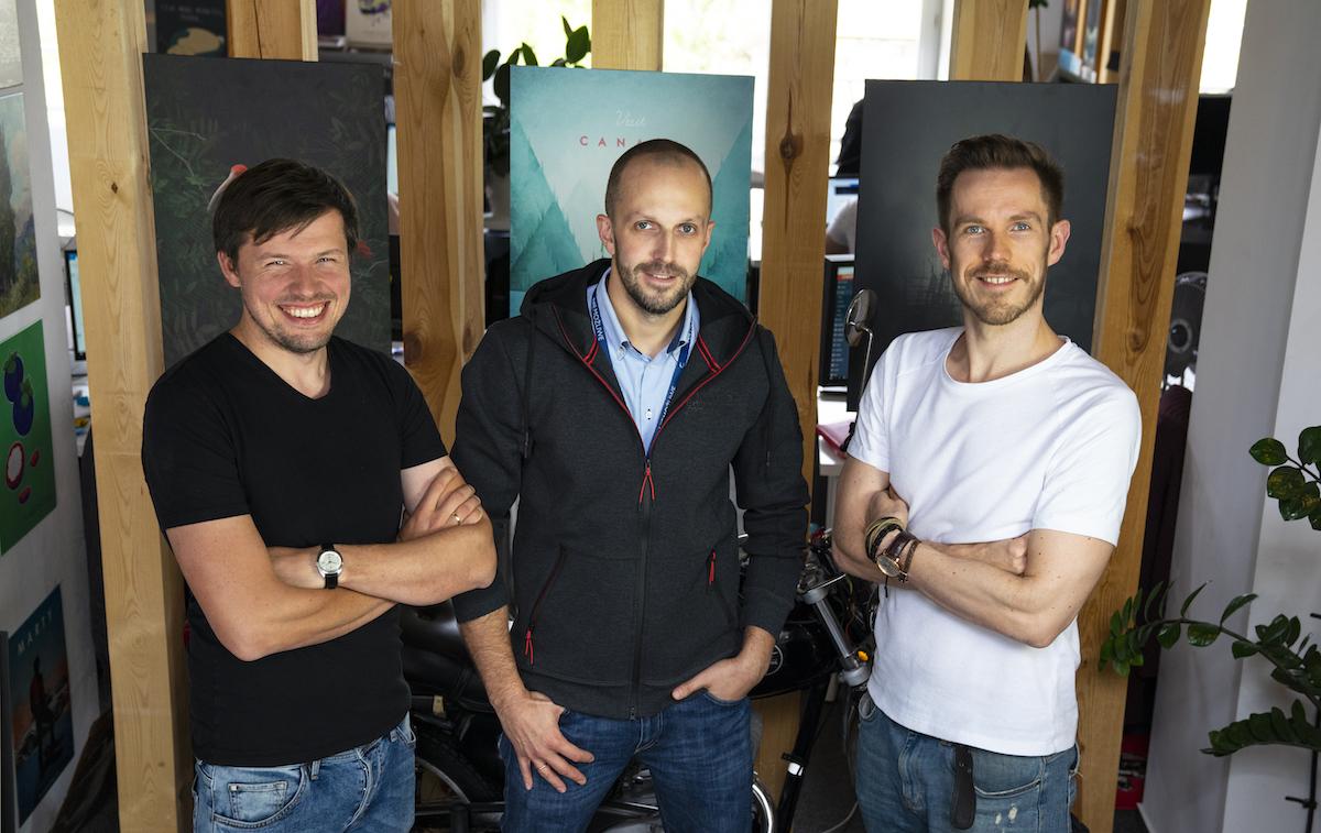 Spoluzakladatelé Displate: Jacek Świgost, Karol Banaszkiewicz a Edward Ruszczyc