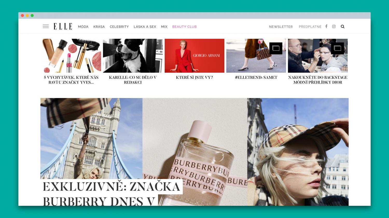 Česká online podoba magazínu Elle