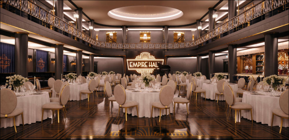 Prostory pražské Empire Hall, kde se konference uskuteční