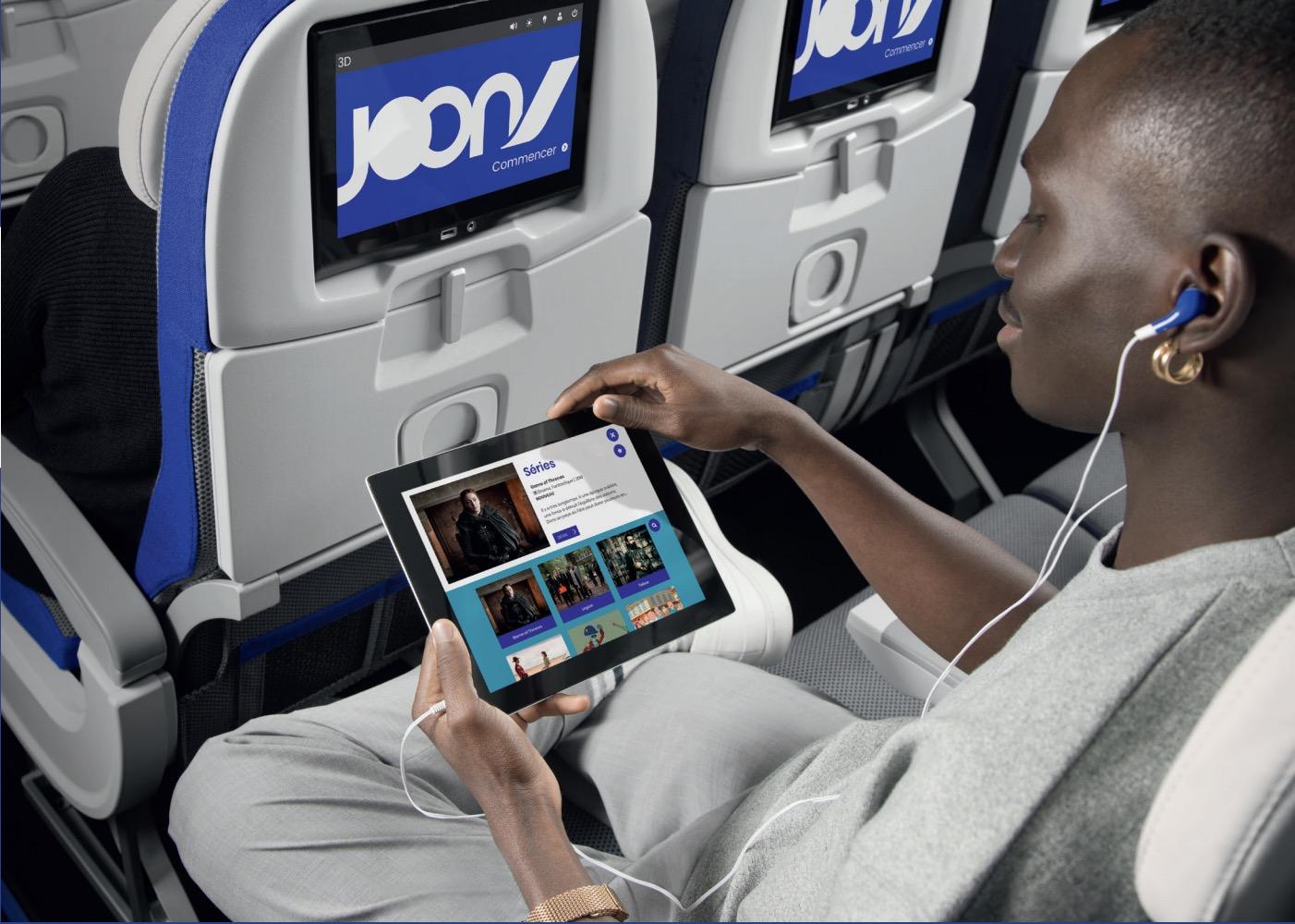 Na palubě letadel Joon najdete zábavní systém YouJoon