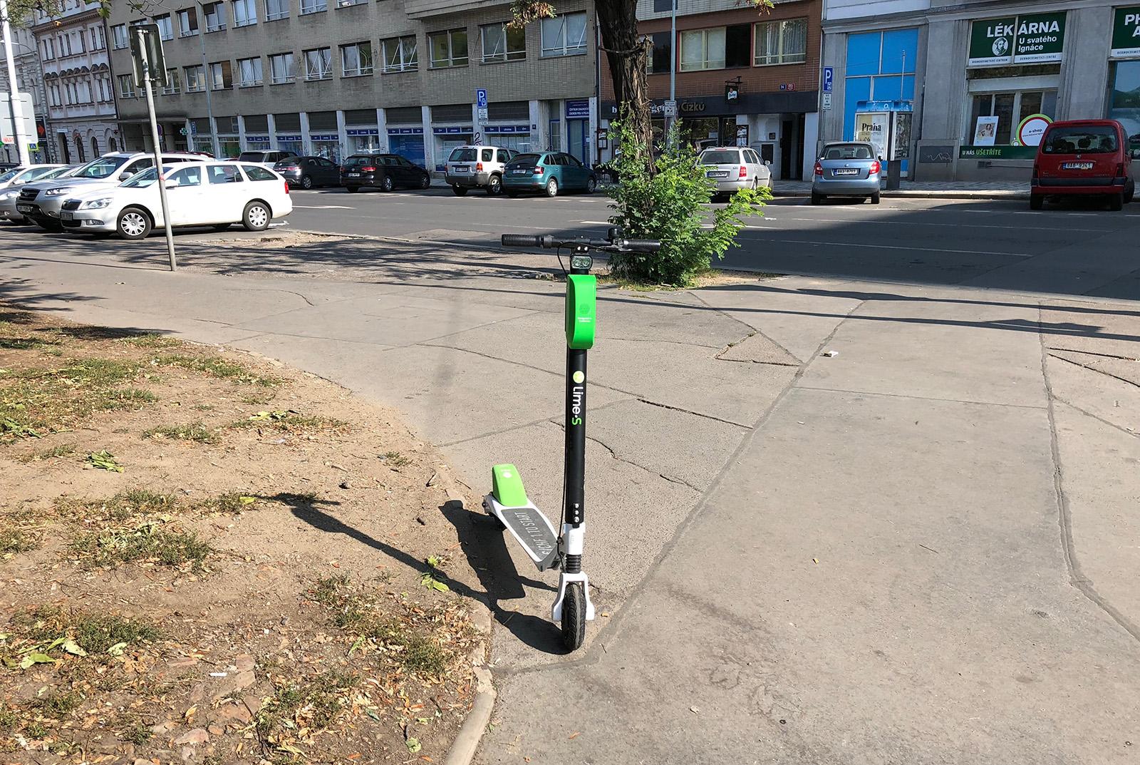 Elektrické koloběžky Lime v Praze