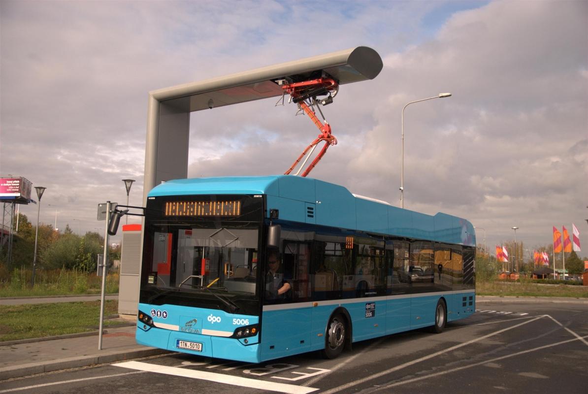Nabíjení ostravského elektrobusu