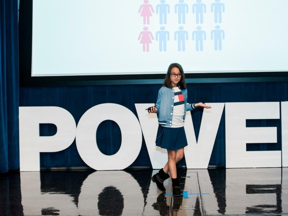Samaira Mehta na konferenci Women In Technology