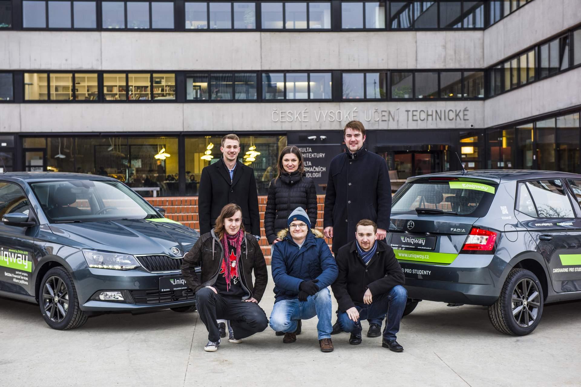 Část studentského týmu, který carsharing Uniqway vytvářel