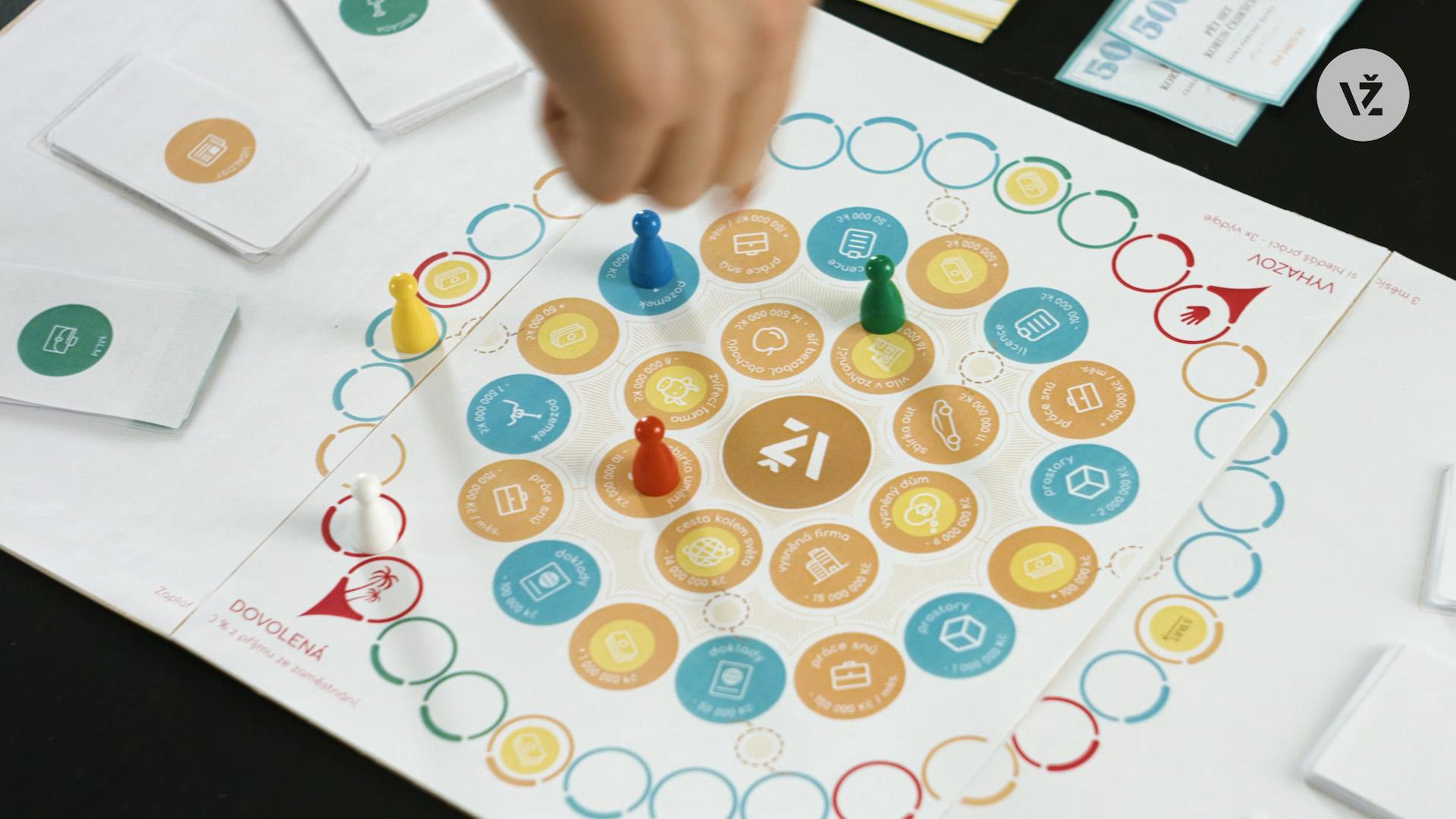 Hrací plán nové deskovky Vyhrej život