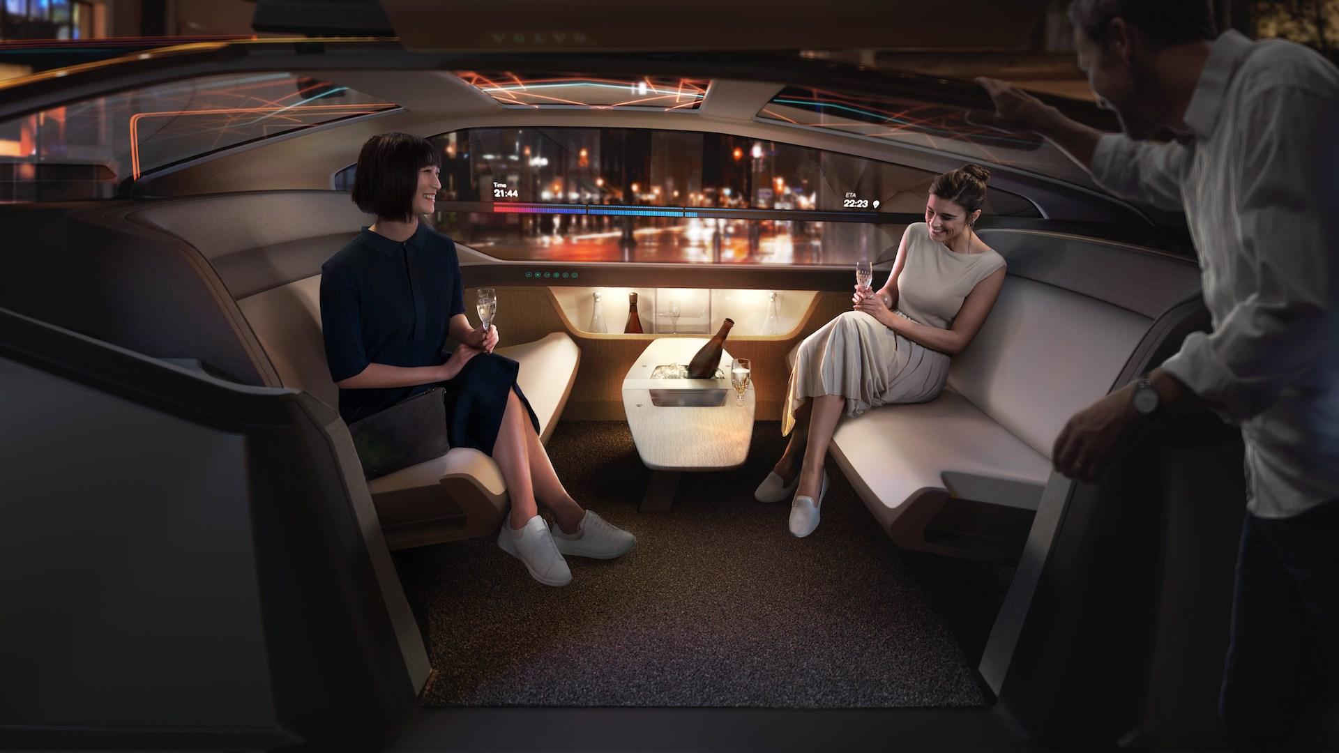 Samořízená auta v budoucnu možná nebudou mít volant vůbec (koncept Volvo 360c)