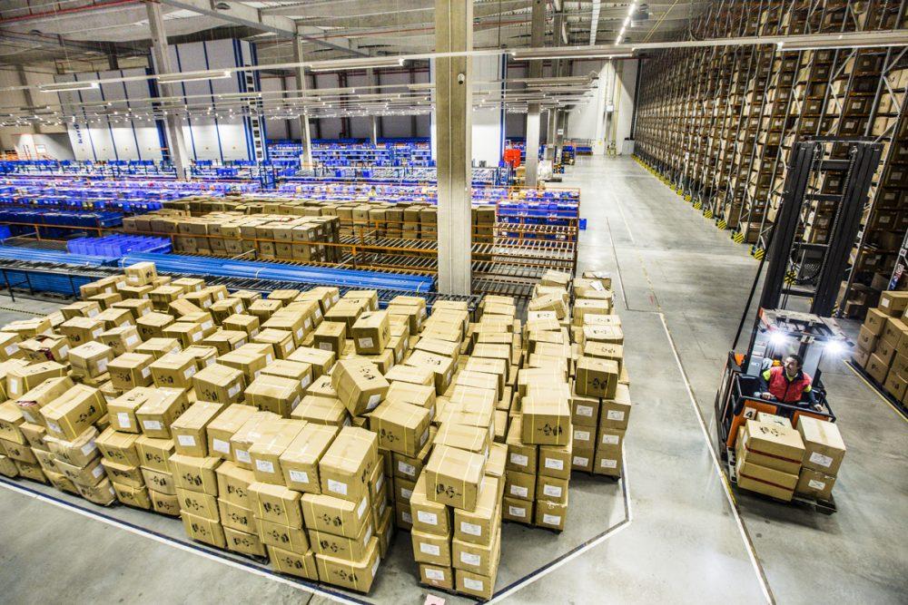 Prostory logistického centra Adleru v Ostravě