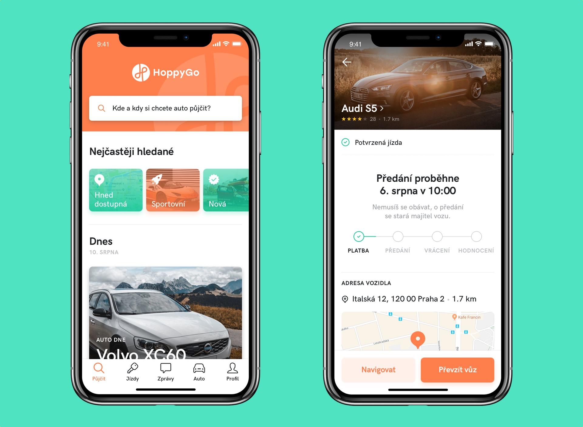 Připravovaná nová aplikace HoppyGo