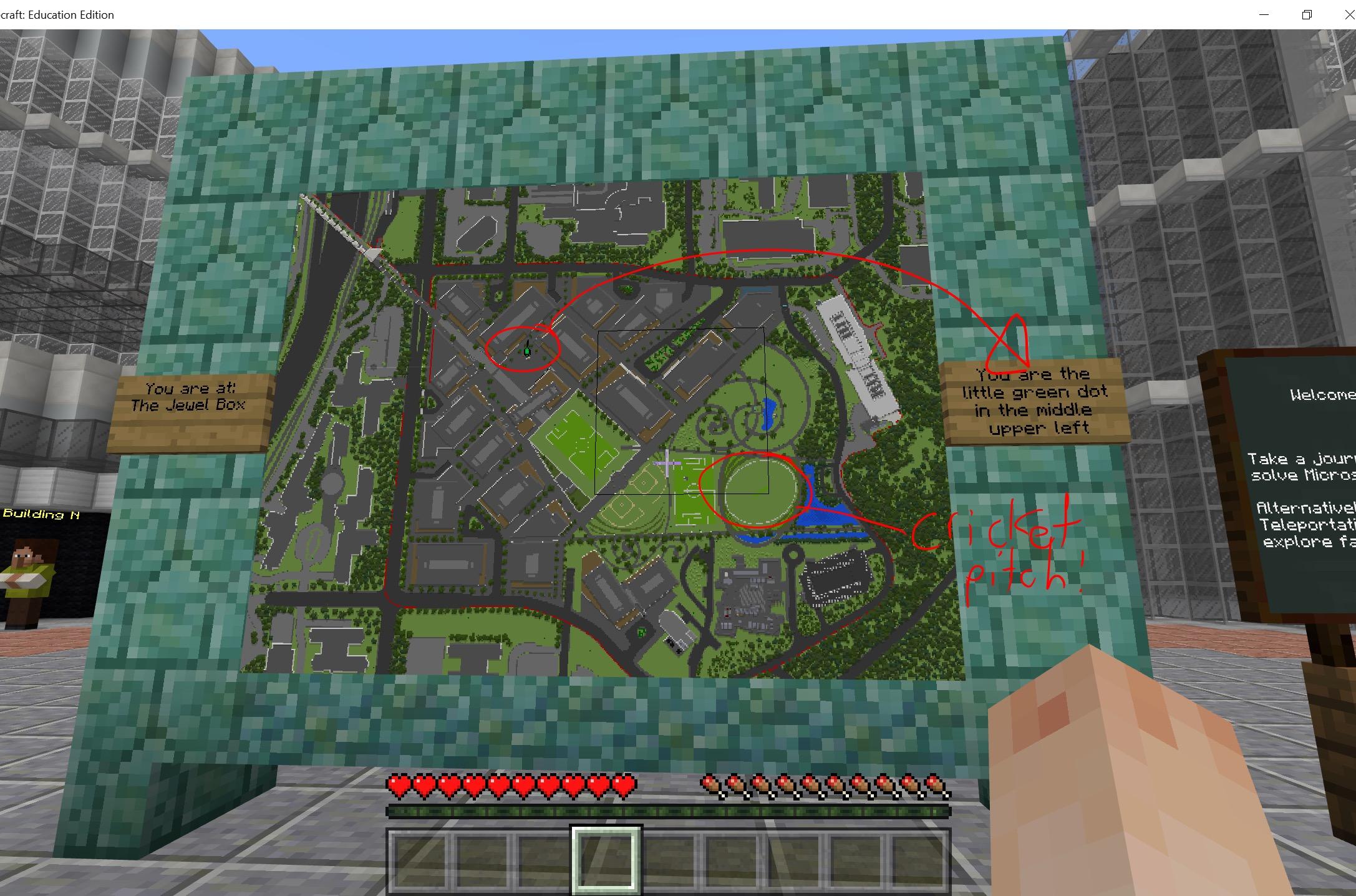 Prohlídka nového kampusu Microsoftu v Minecraftu