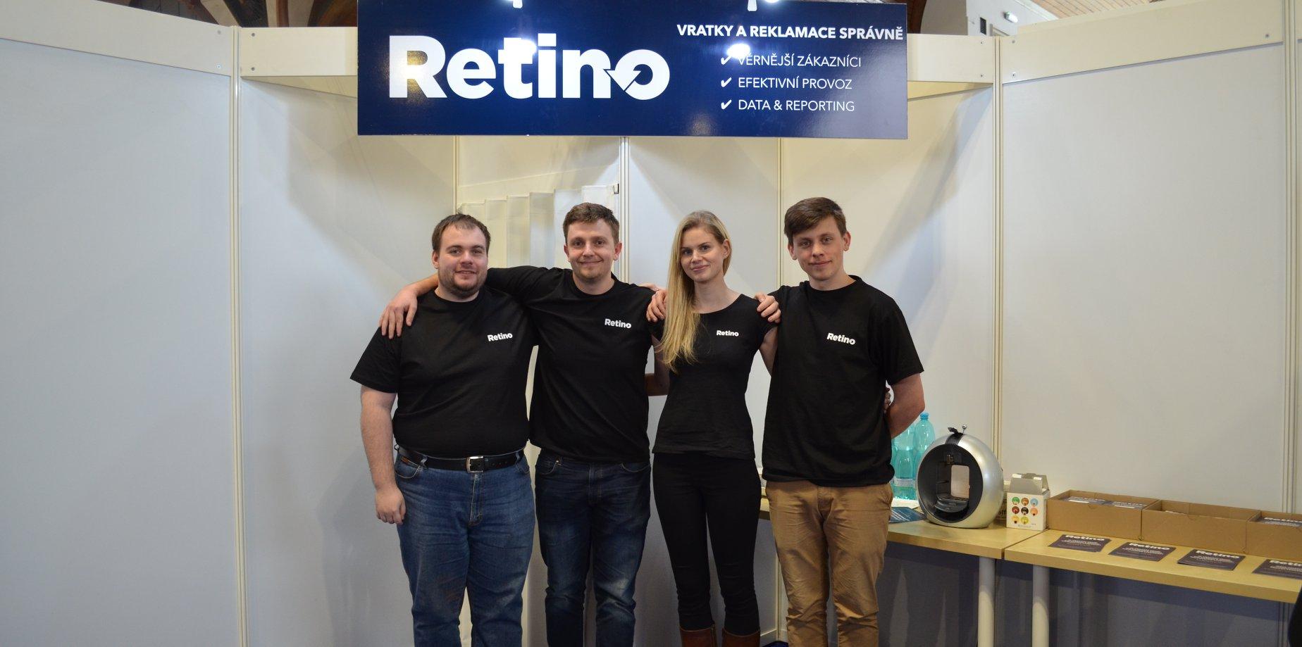 Český startup Retino, vlevo zakladatel Petr Boroš