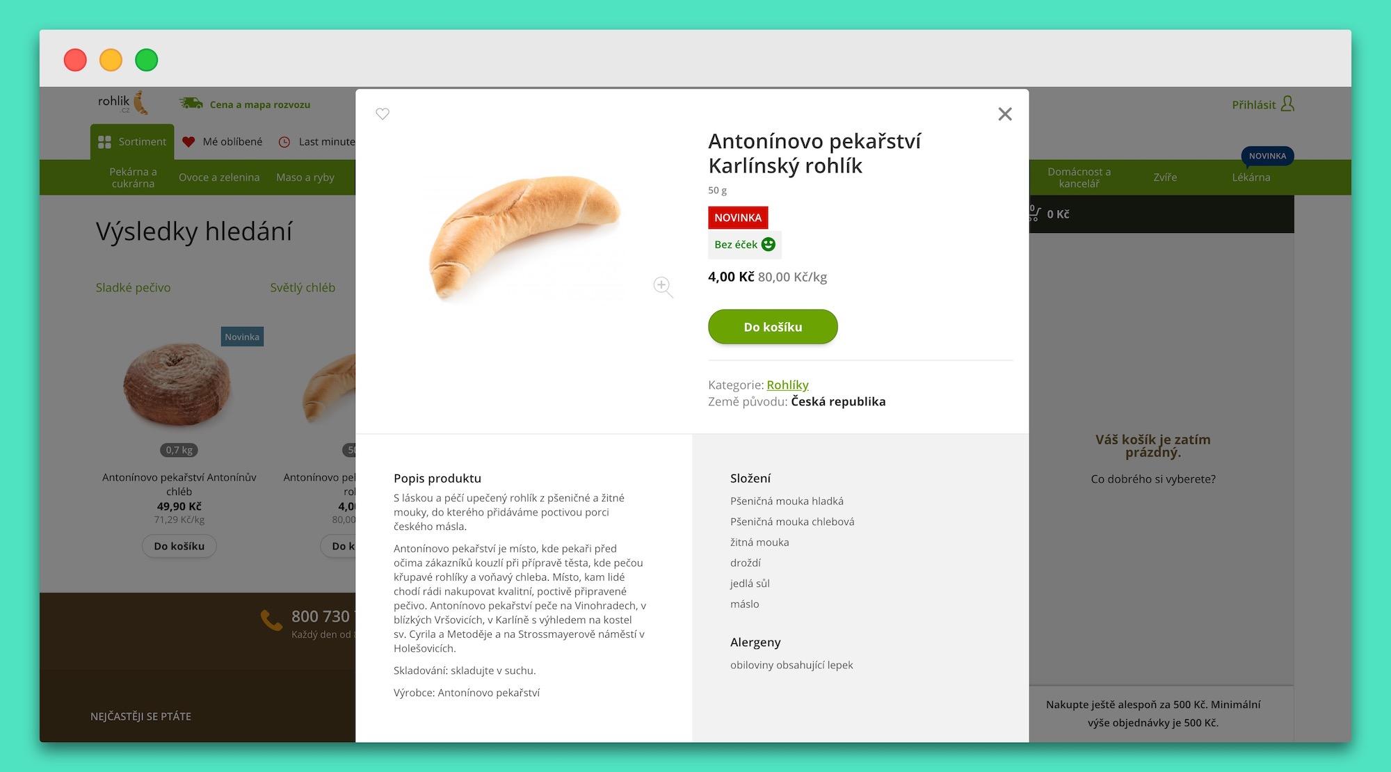 Na Rohlik.cz najdete například rohlíky z Antonínova pekařství