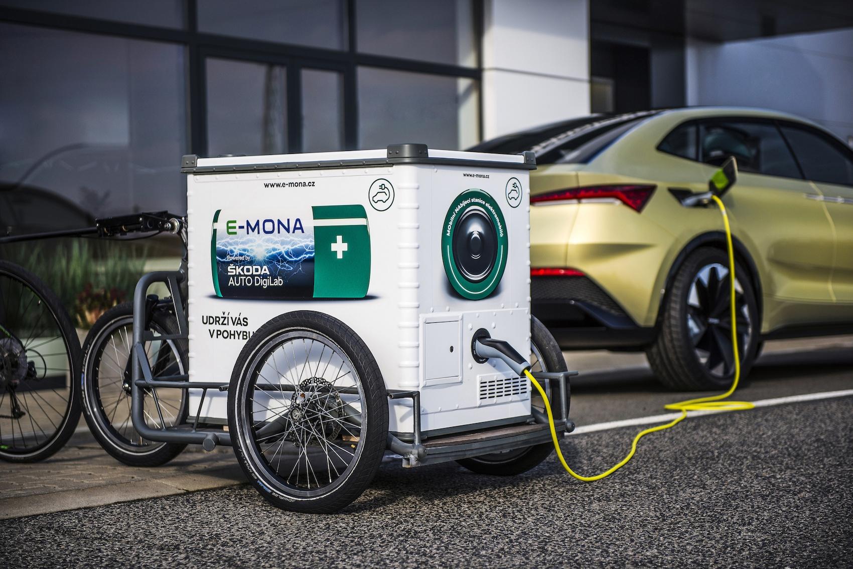 Mobilní nabíjecí stanici E-Mona