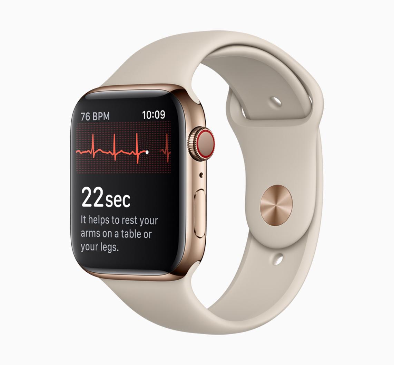 Měření EKG na Apple Watch Series 4 je zatím dostupné pouze u modelů zakoupených v USA