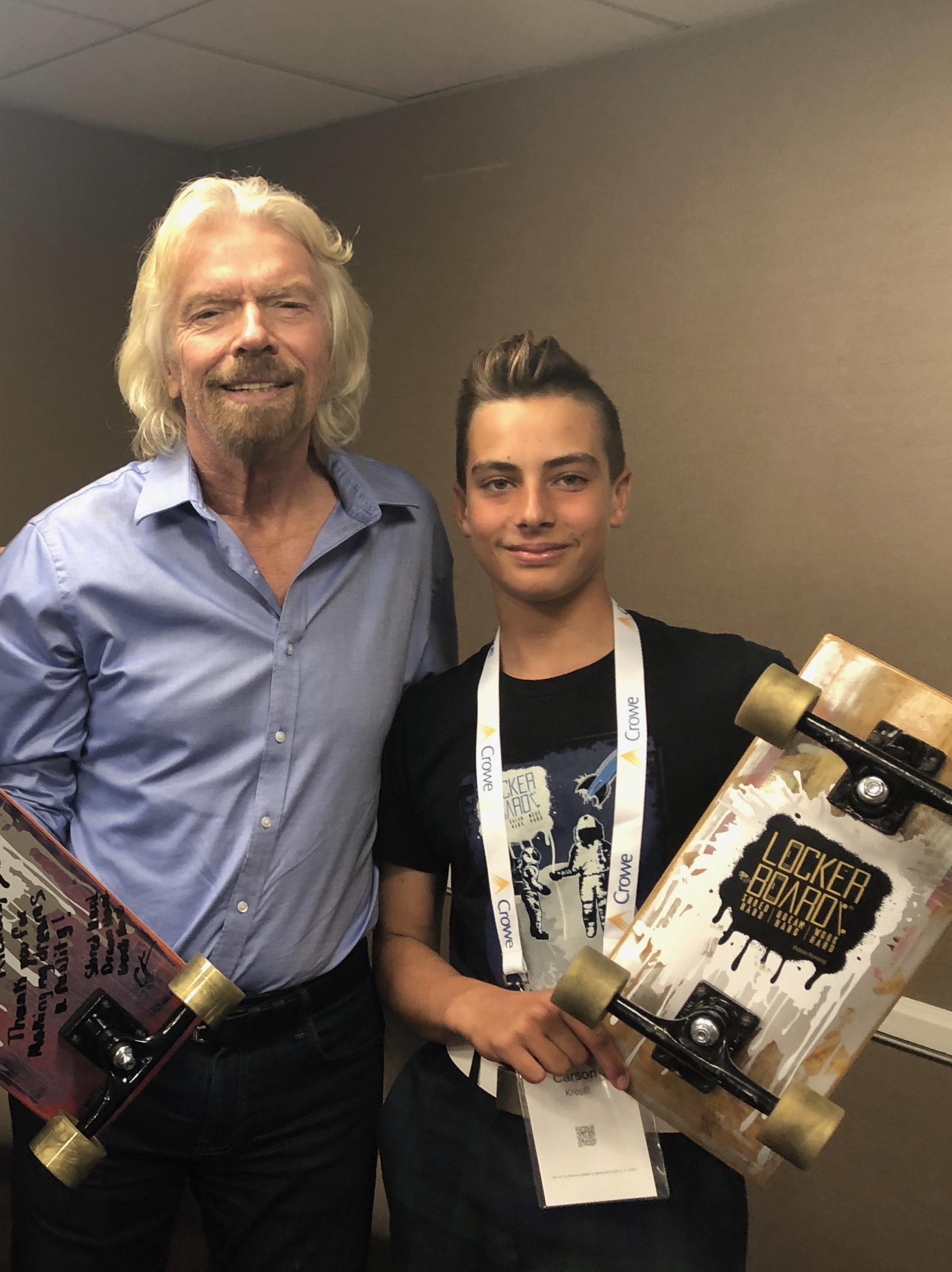 Carson Kropfl s miliardářem Richardem Bransonem