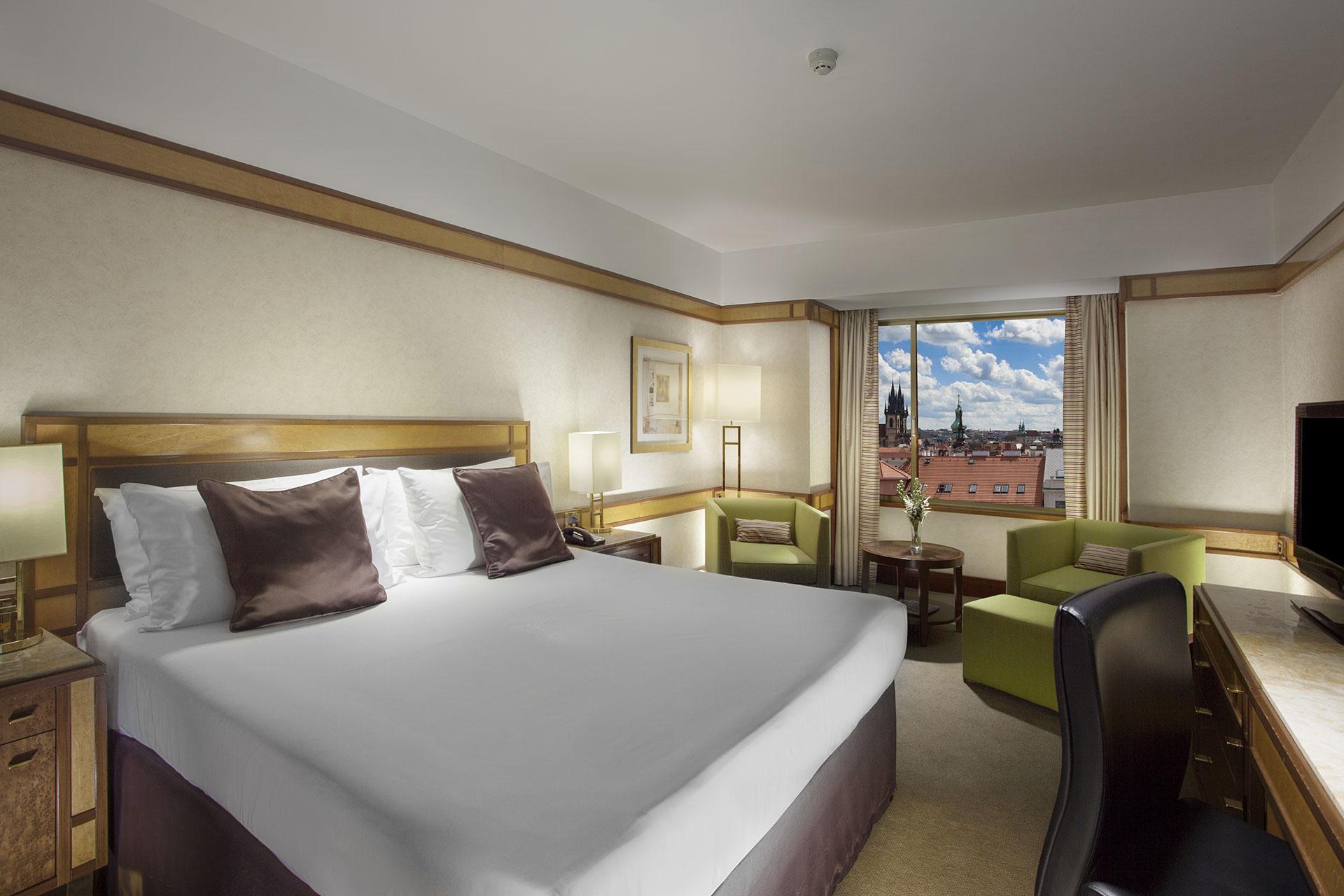 Hotelový pokoj v pražském Intercontinentalu