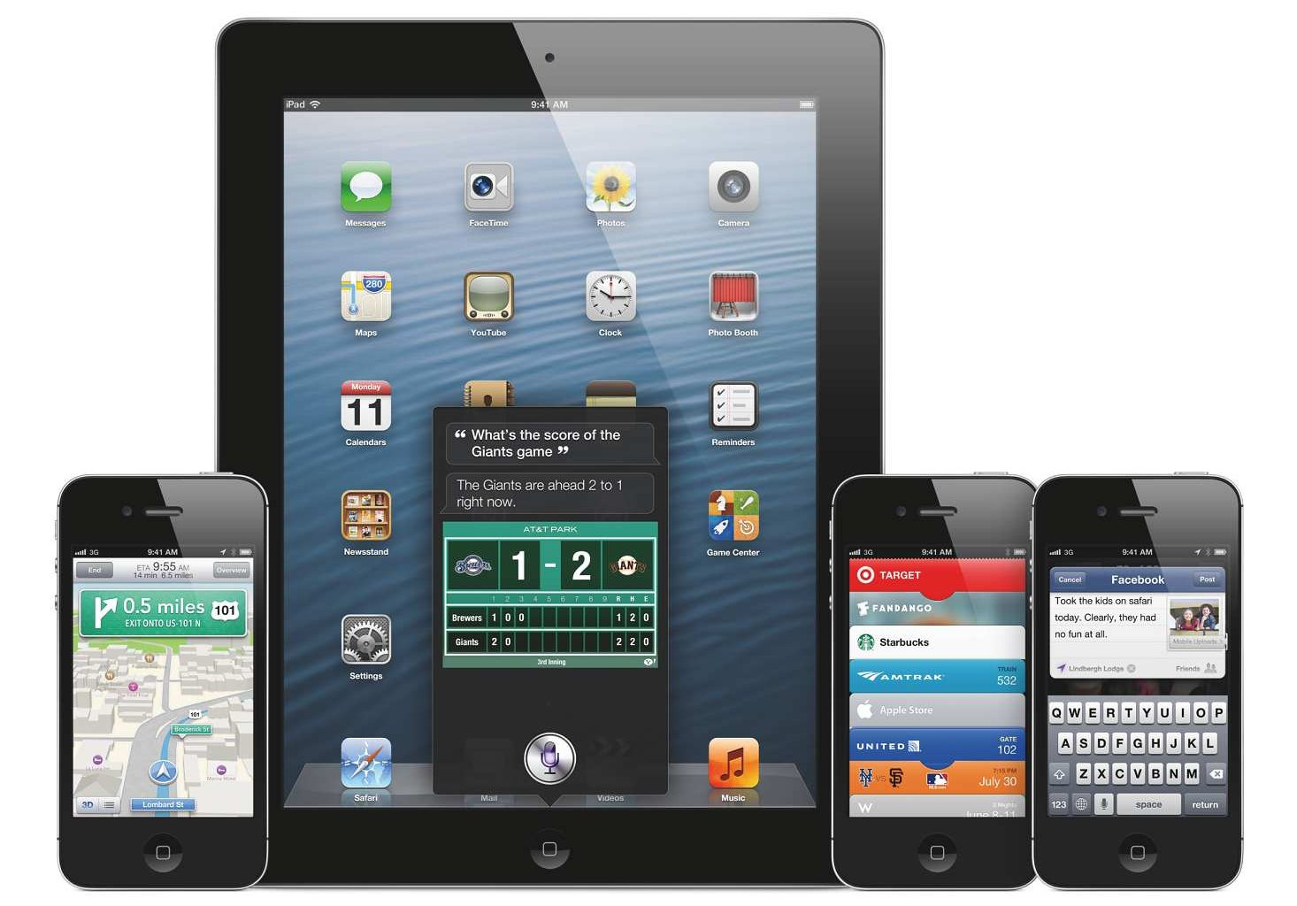 Skeumorfismus u iOS 6, poslední verze iOS, která toto rozhraní nabízela