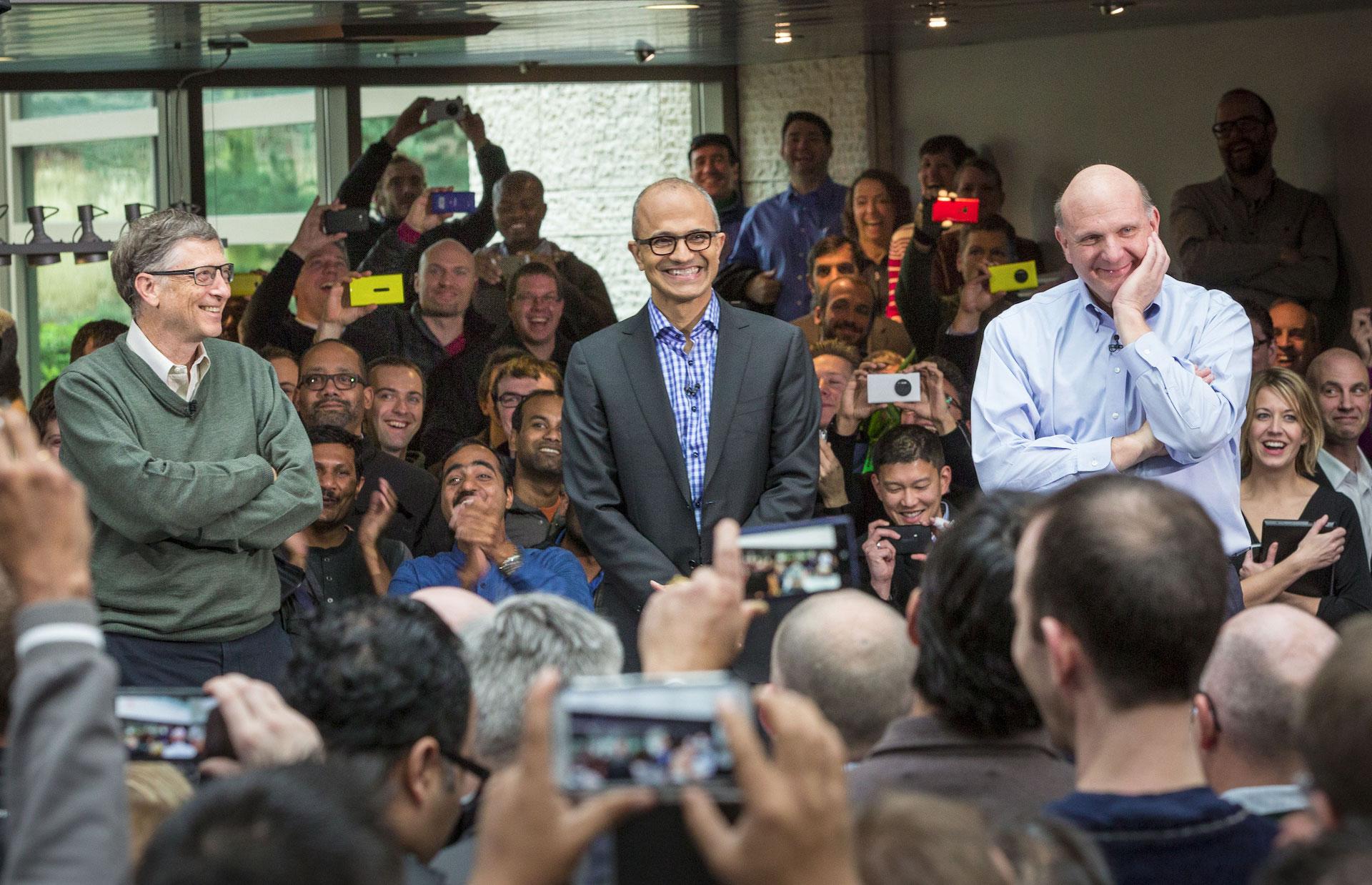 Satya Nadella představován jako nový CEO Microsoftu