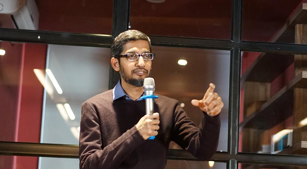 Nynější šéf Googlu Sundar Pichai