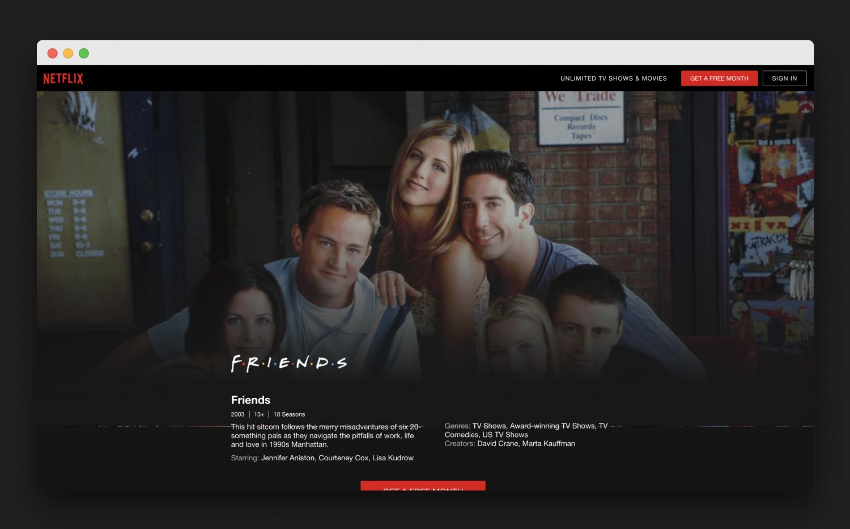 Přátelé (Friends) v nabídce Netflixu