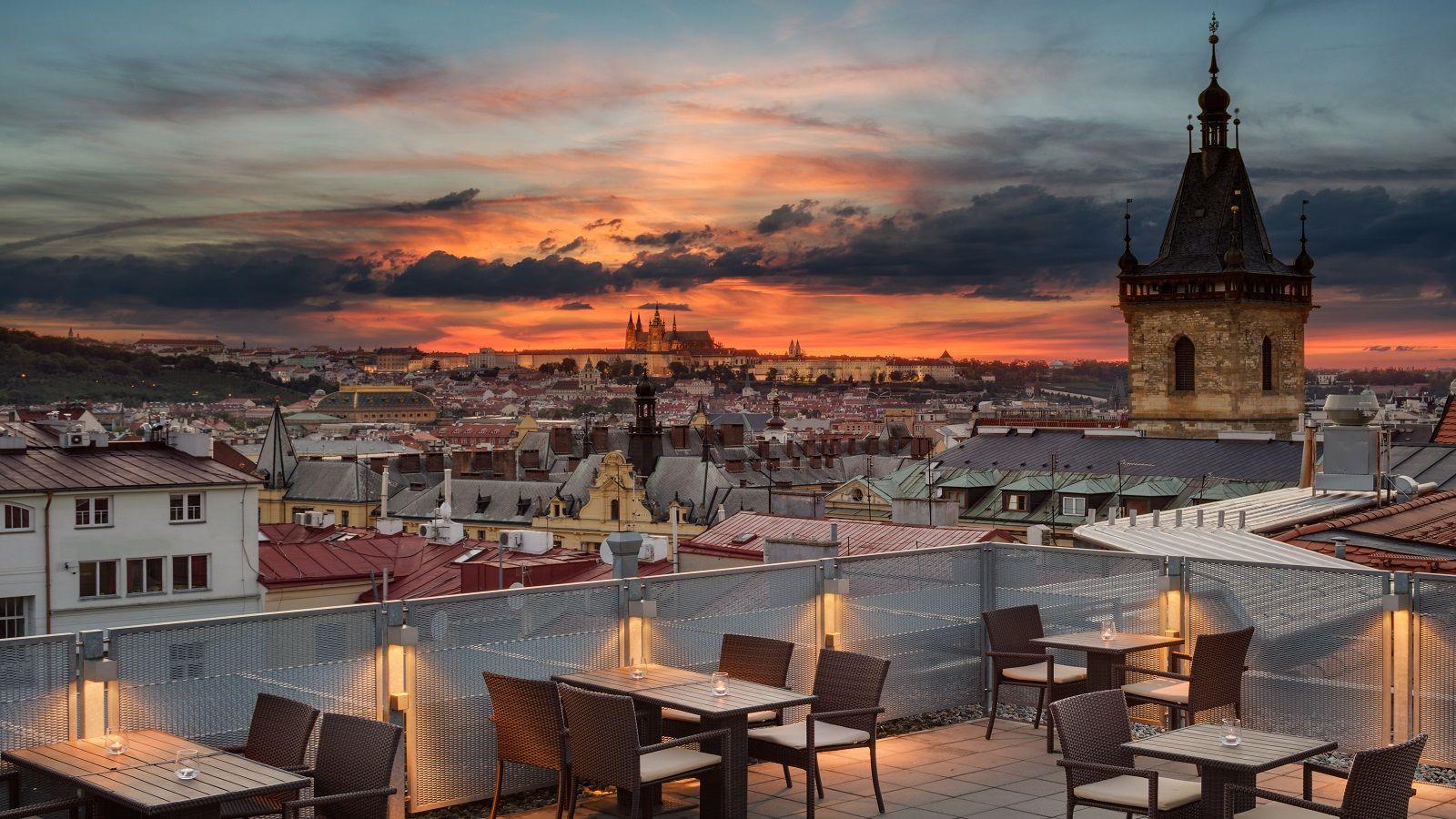 Výhled ze střechy hotelu Sheraton Prague na Praze 1