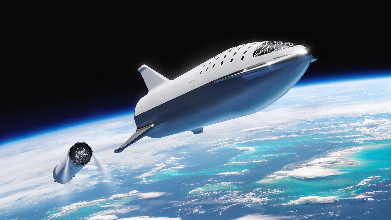 Původní koncept rakety BFR z roku 2016
