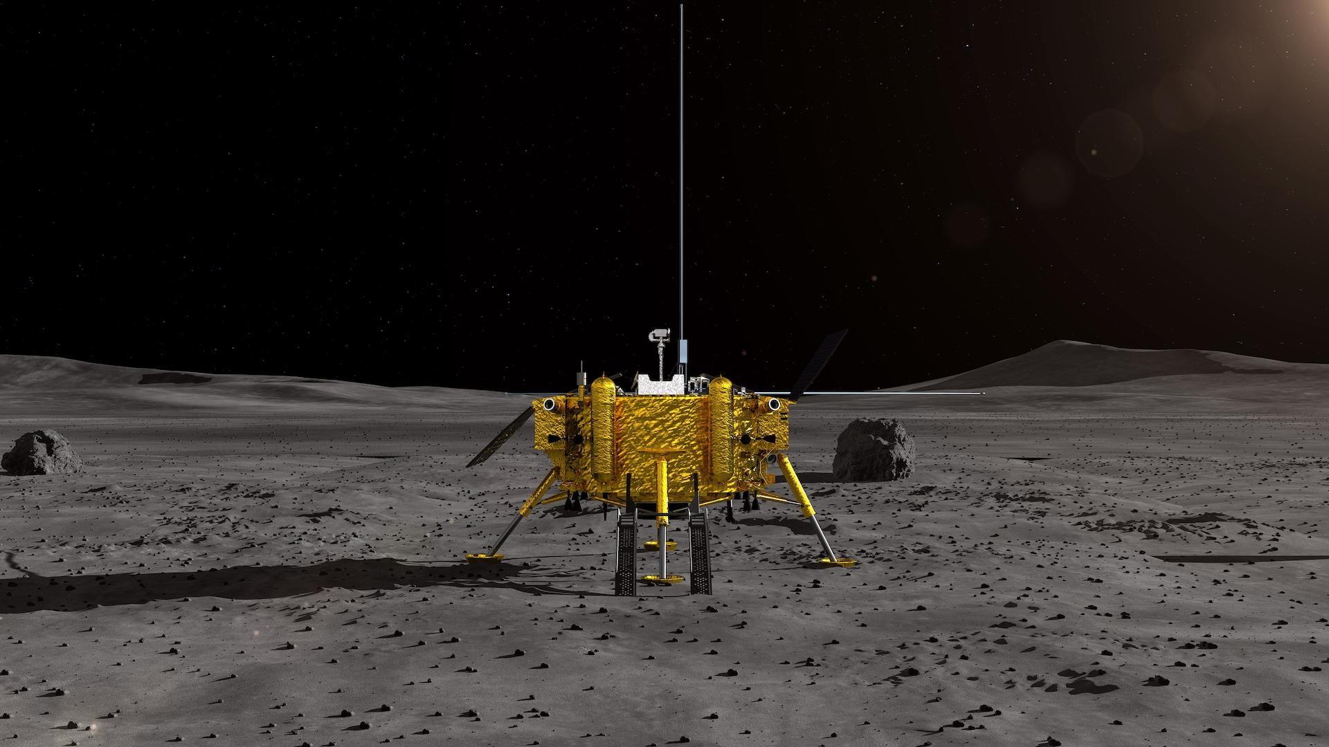 Čínská sonda Čchang-e 4 přistála jako první na odvrácené straně Měsíce.  Ambice Číny jsou však daleko větší - CzechCrunch