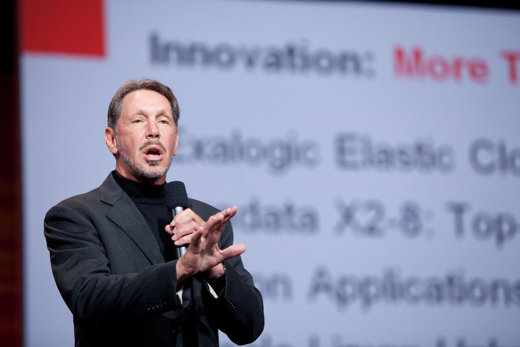 Spoluzakladatel a technologický šéf společnosti Oracle Larry Ellison