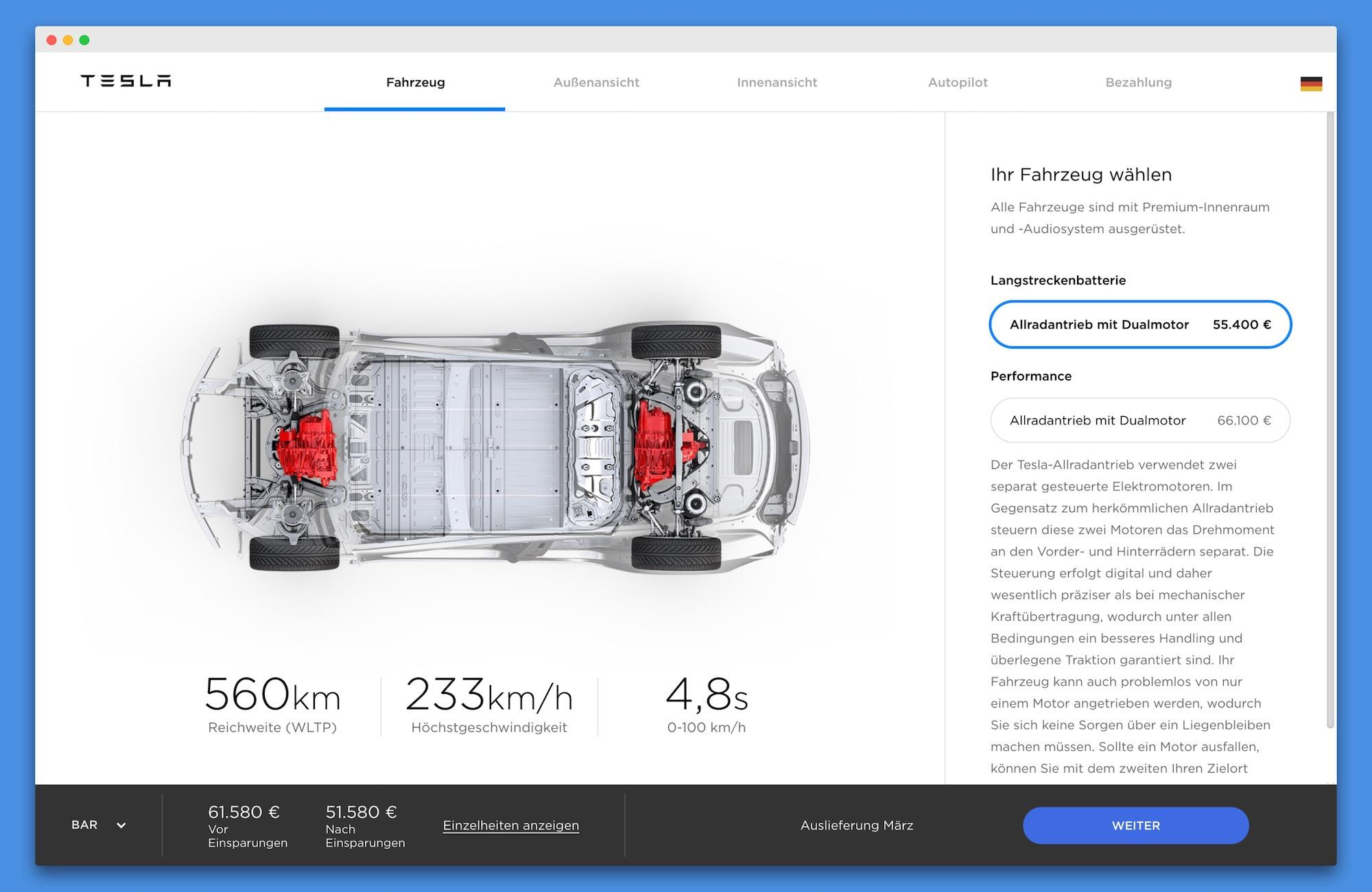 Objednávka Tesla Model 3 v Německu