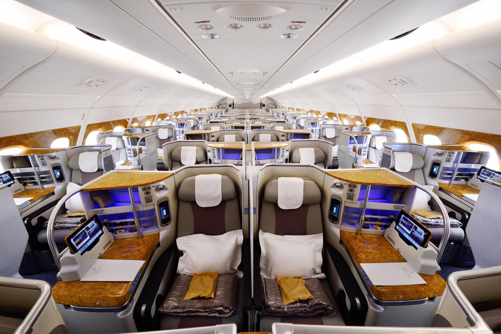 Business třída v Airbusu A380 od Emirates
