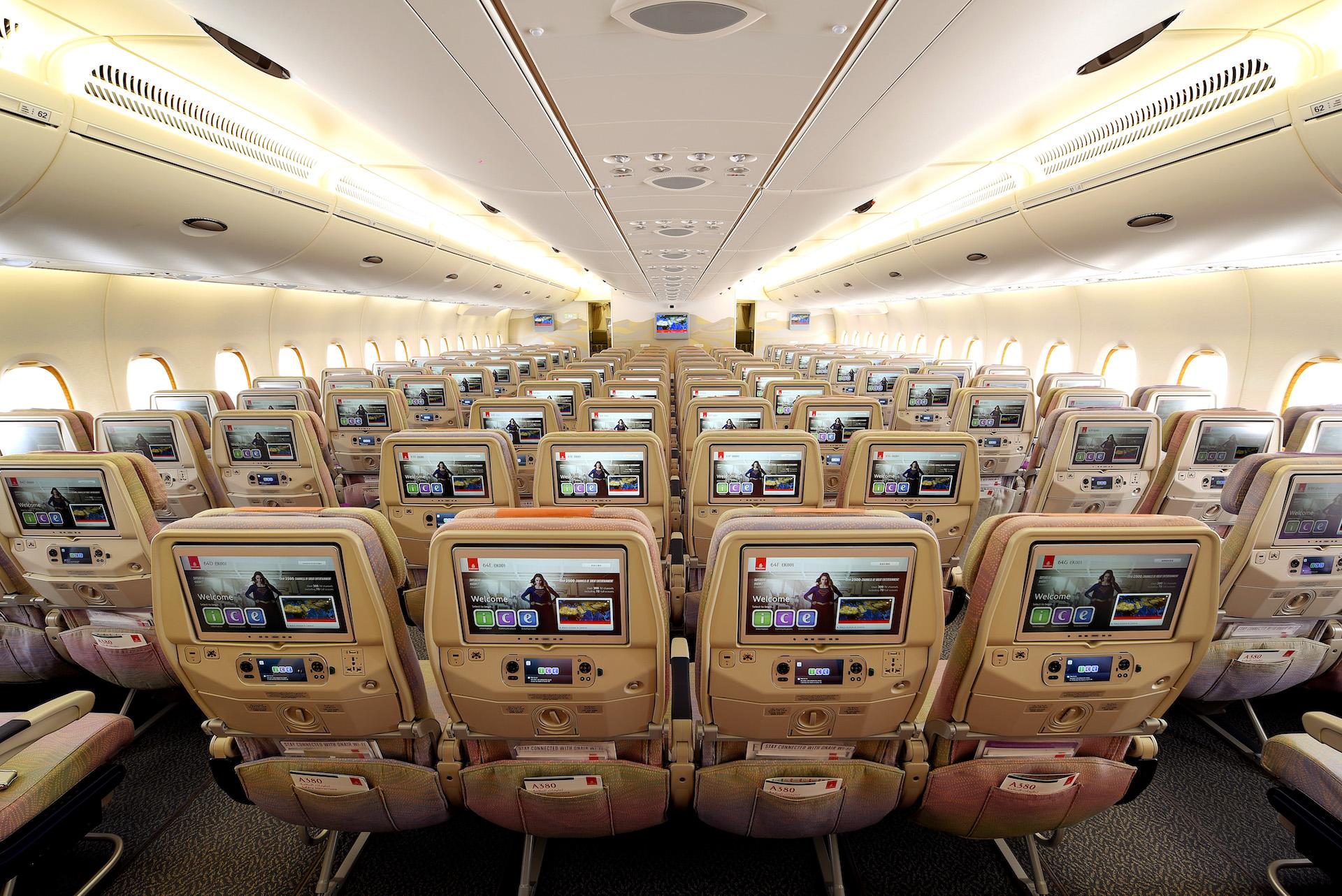 Economy třída v Airbusu A380 od Emirates