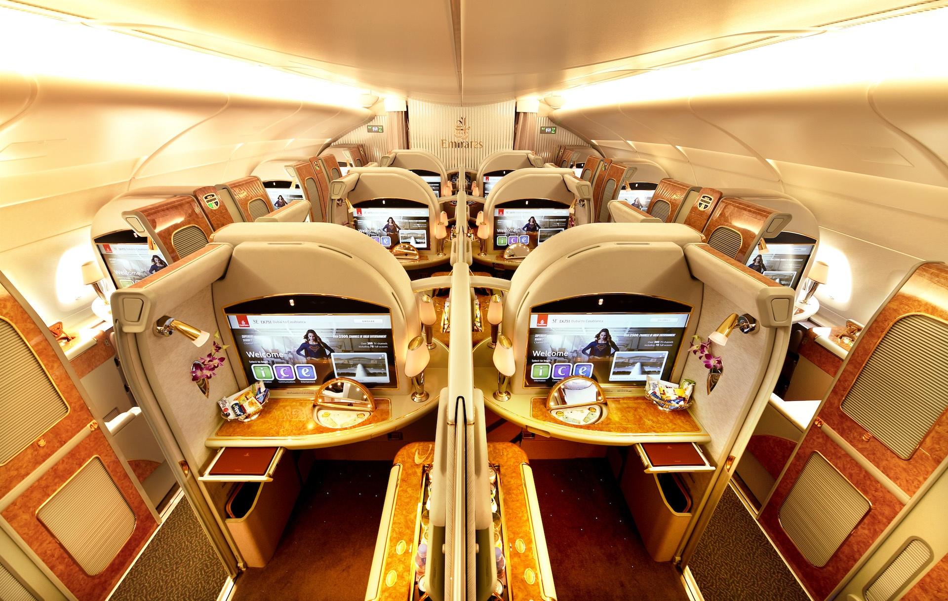 First Class v Airbusu A380 od Emirates