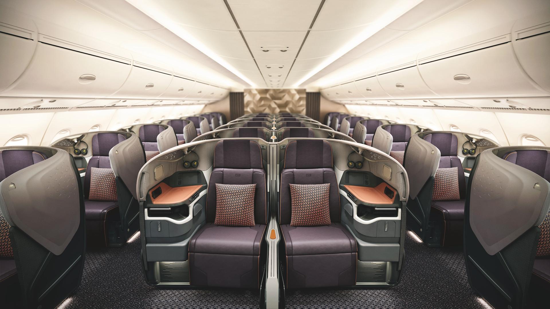 Business třída v Airbusu A380 od Singapore Airlines