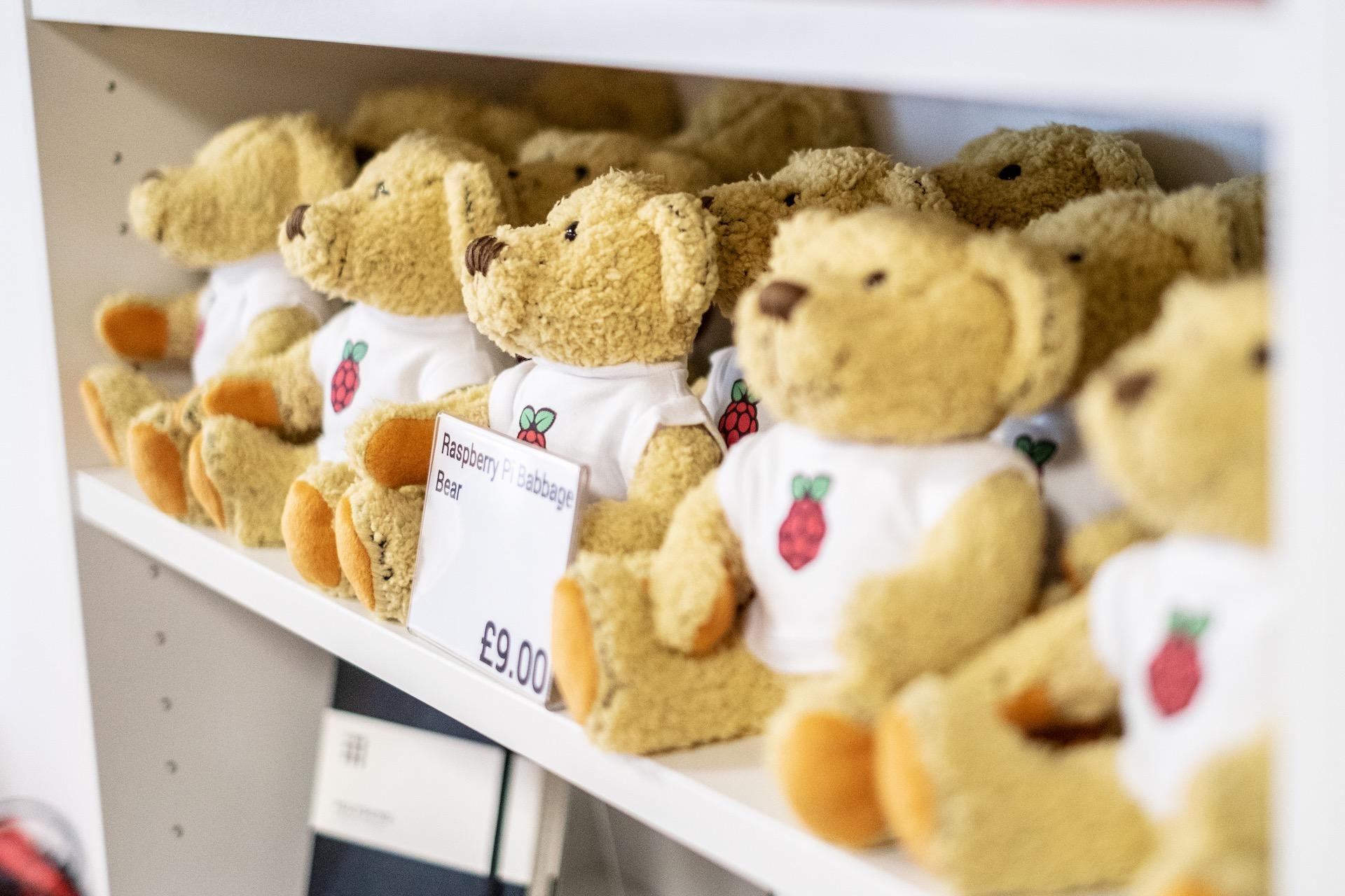 Babbage Bear, oficiální maskot komunity Raspberry Pi