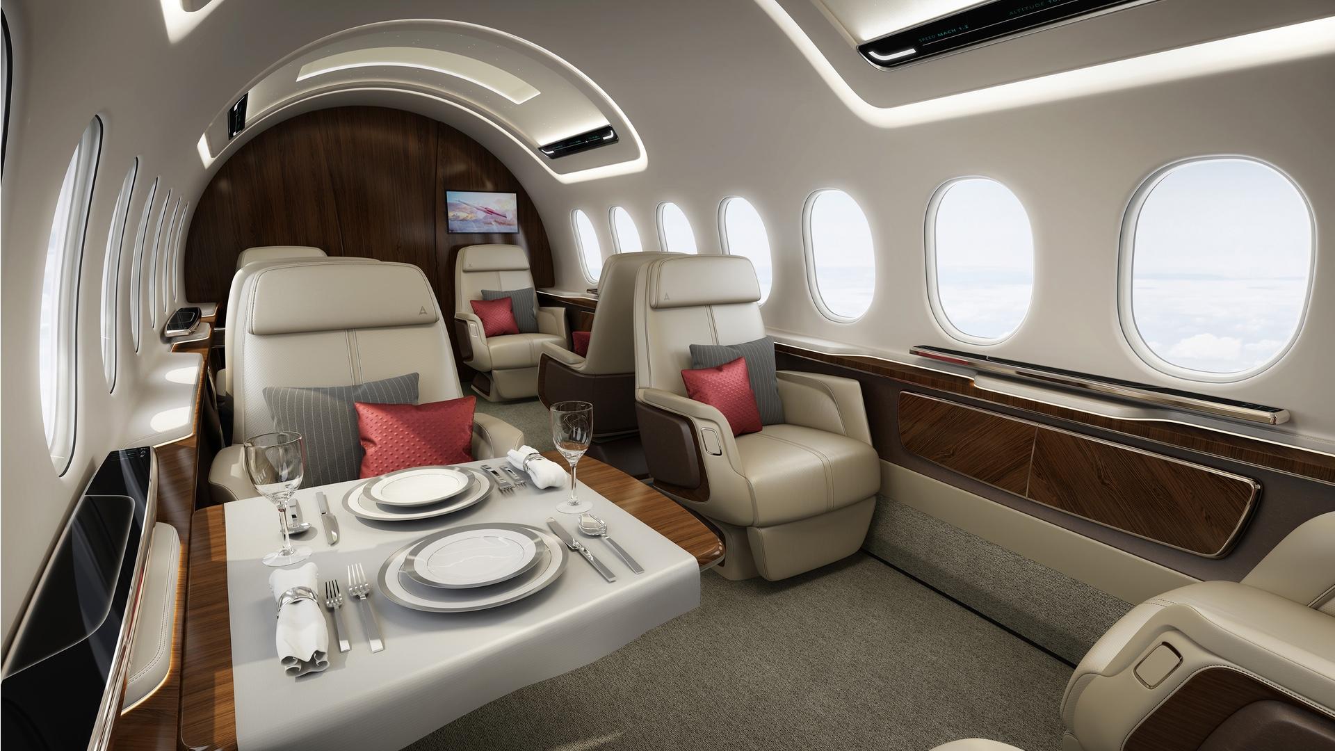 Interiér nadzvukového letounu Aerion AS2