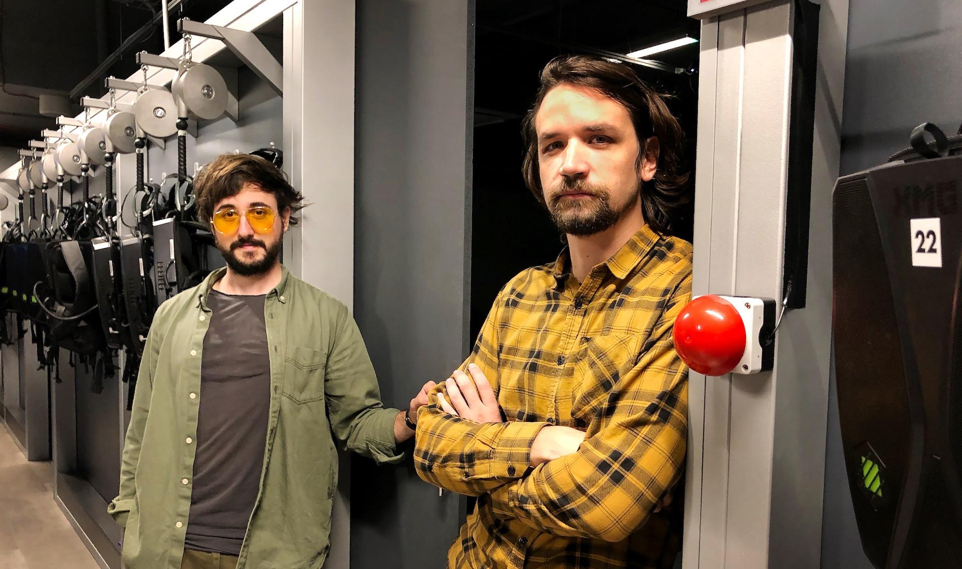 Spoluzakladatelé studia DIVR Jakub Kučera (kreativní ředitel) a Martin Tichota (CTO)