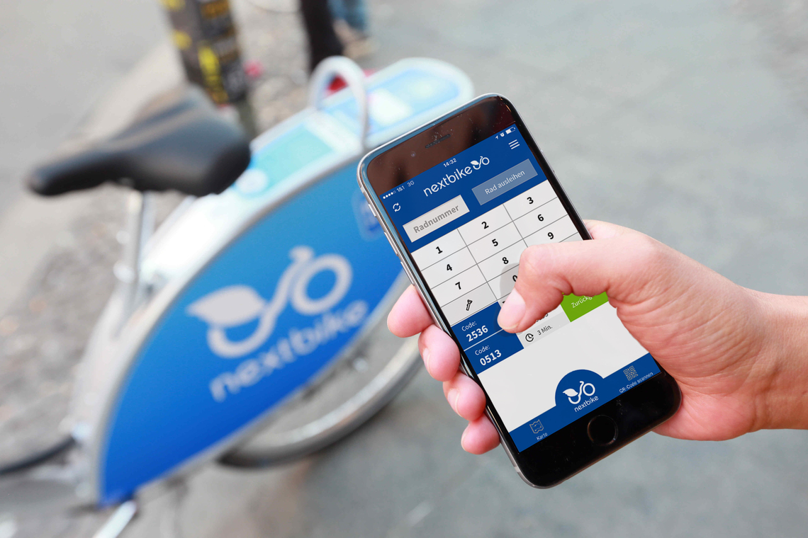 Sdílená kola Nextbike odemknete přes mobilní aplikaci