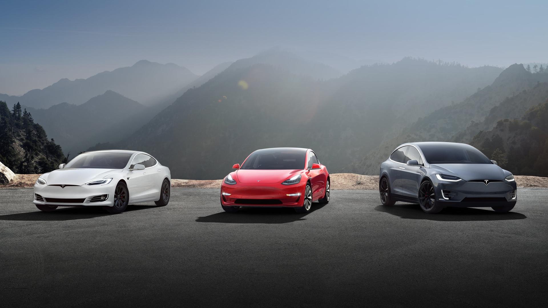 Tesla Model S, Model 3 a Model X