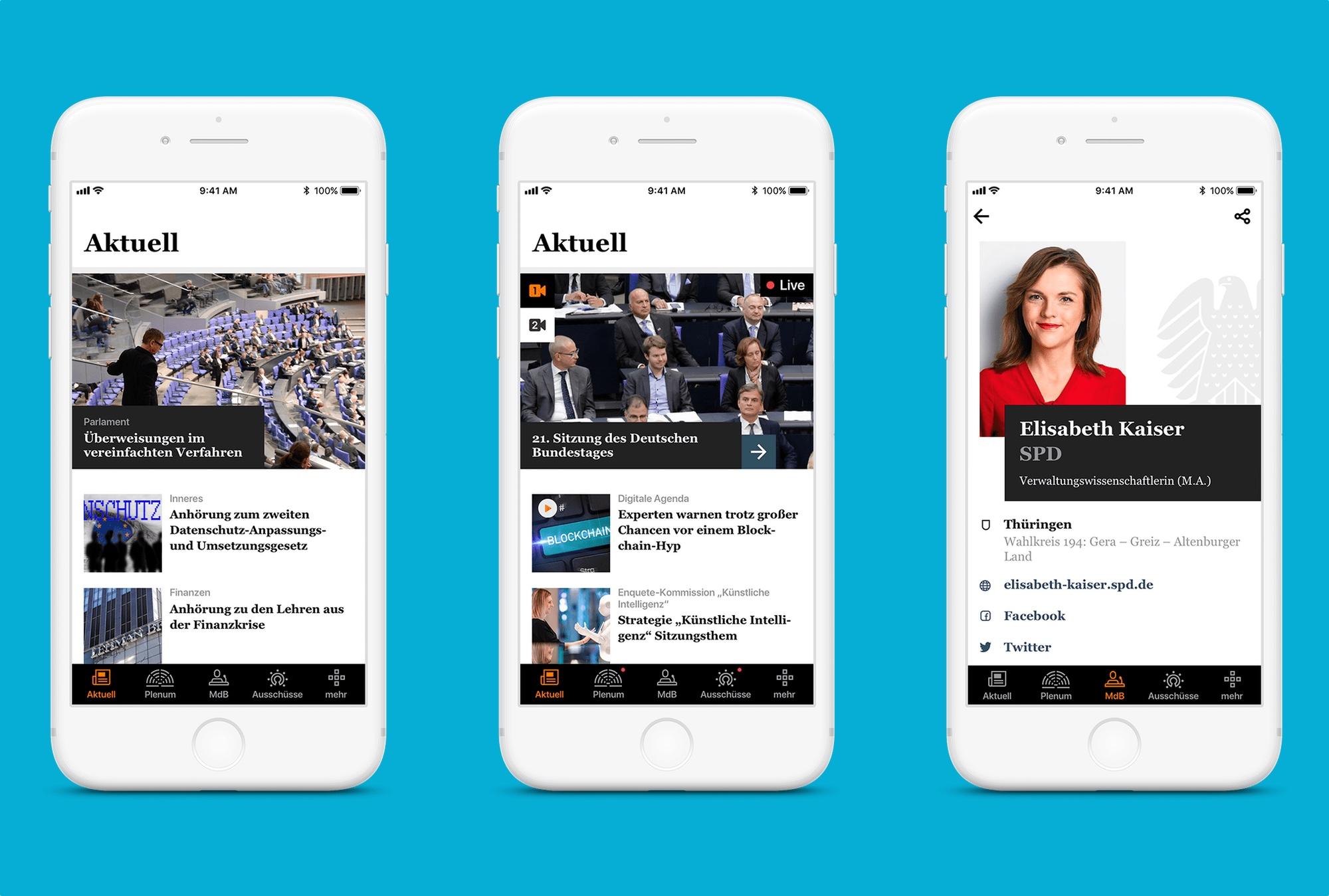 Nová aplikace německého Bundestagu od české firmy Ackee