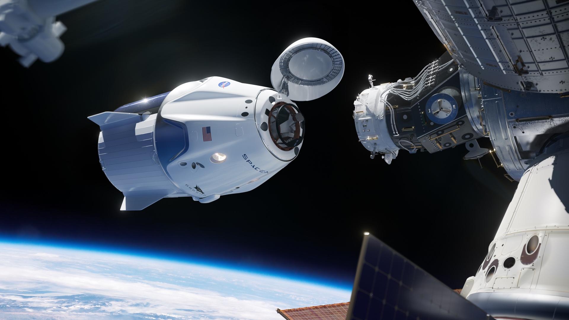 Crew Dragon u Mezinárodní vesmírné stanice