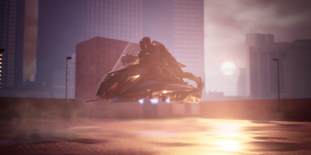Létající motorka jako ze Star Wars má létat rychlostí přes 240 km/h až ve čtyřech kilometrech nad zemí