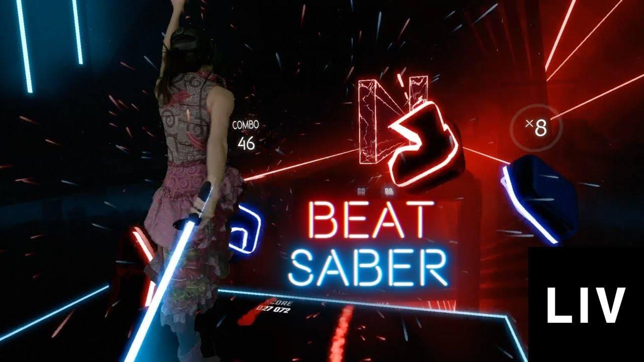 Jedna z her běžících na technologii pražského LIV – český Beat Saber