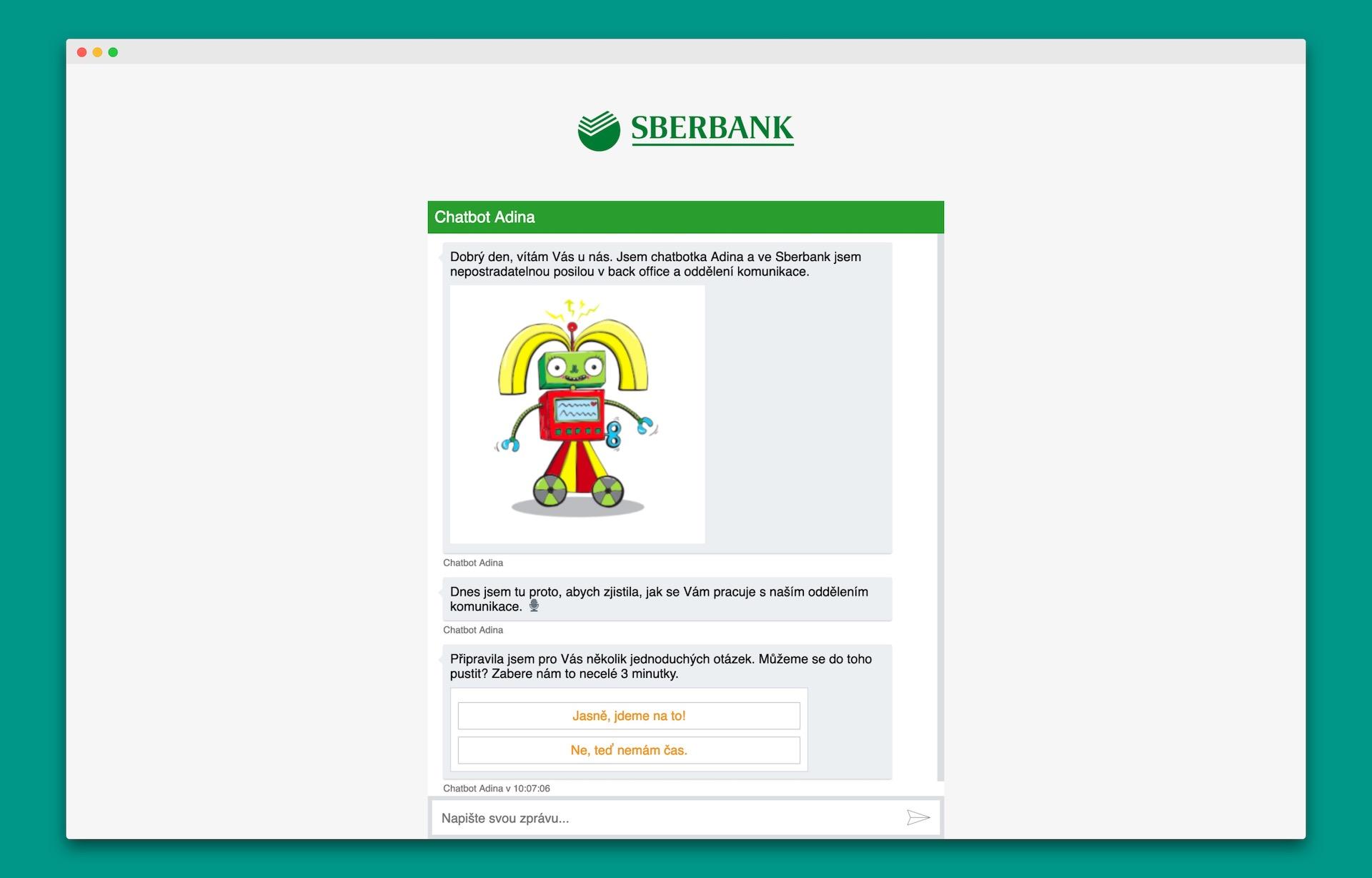 Pro Sberbank již Feedyou vytvořilo chatbota přes nový agenturní model