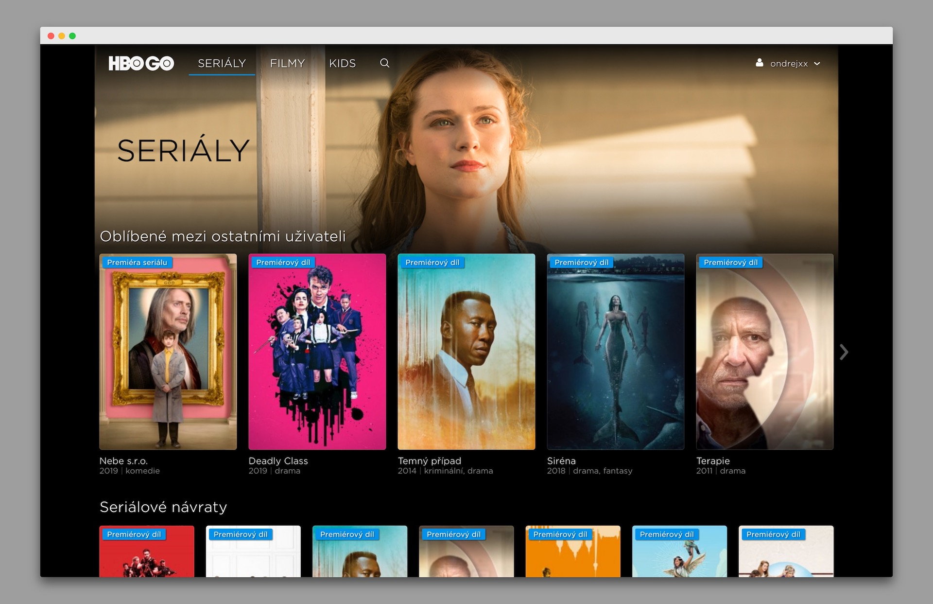HBO GO funguje také v Česku