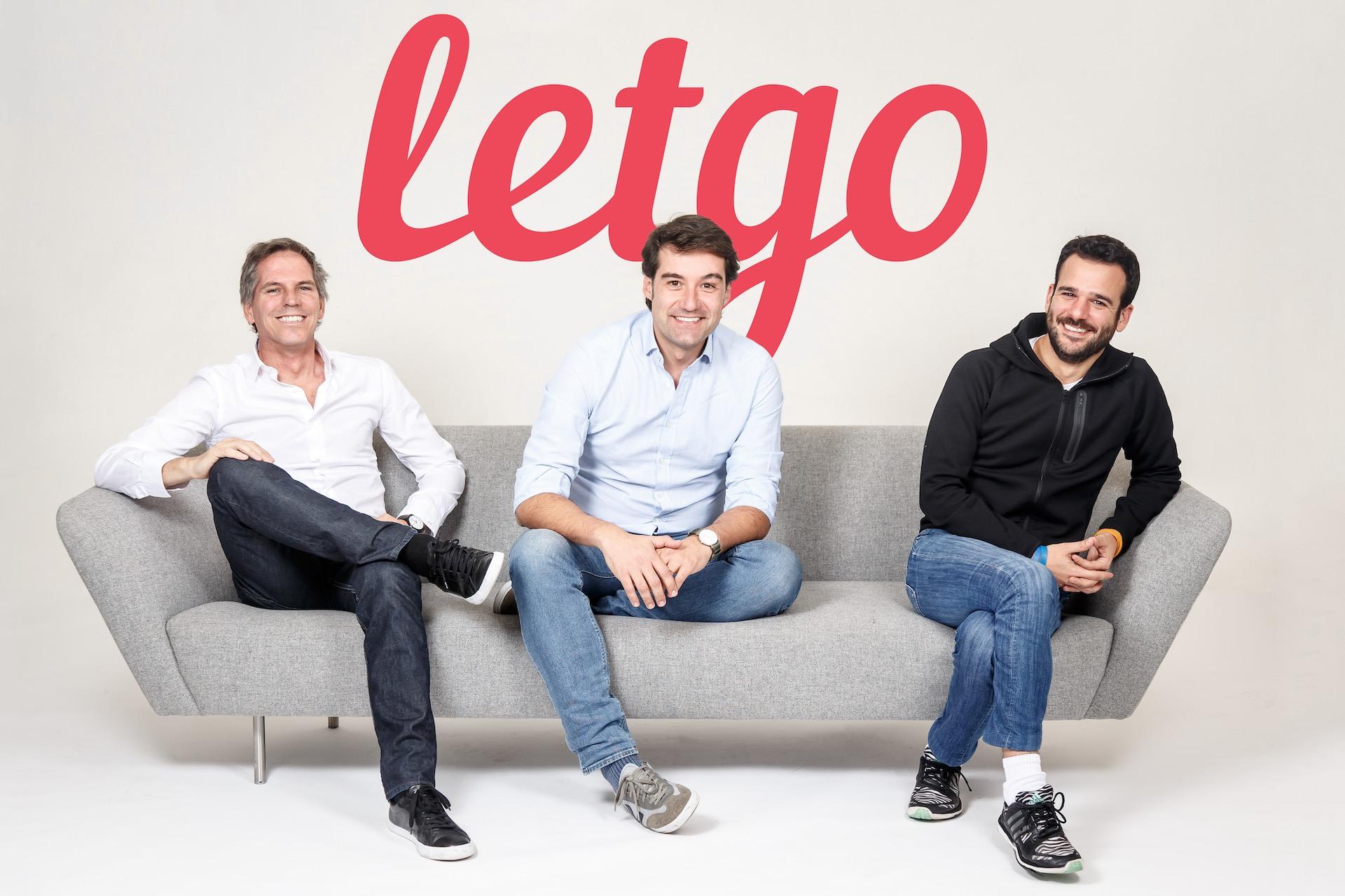 Zakladatelé Letgo Alec Oxenford, Enrique Linares a Jordi Castello