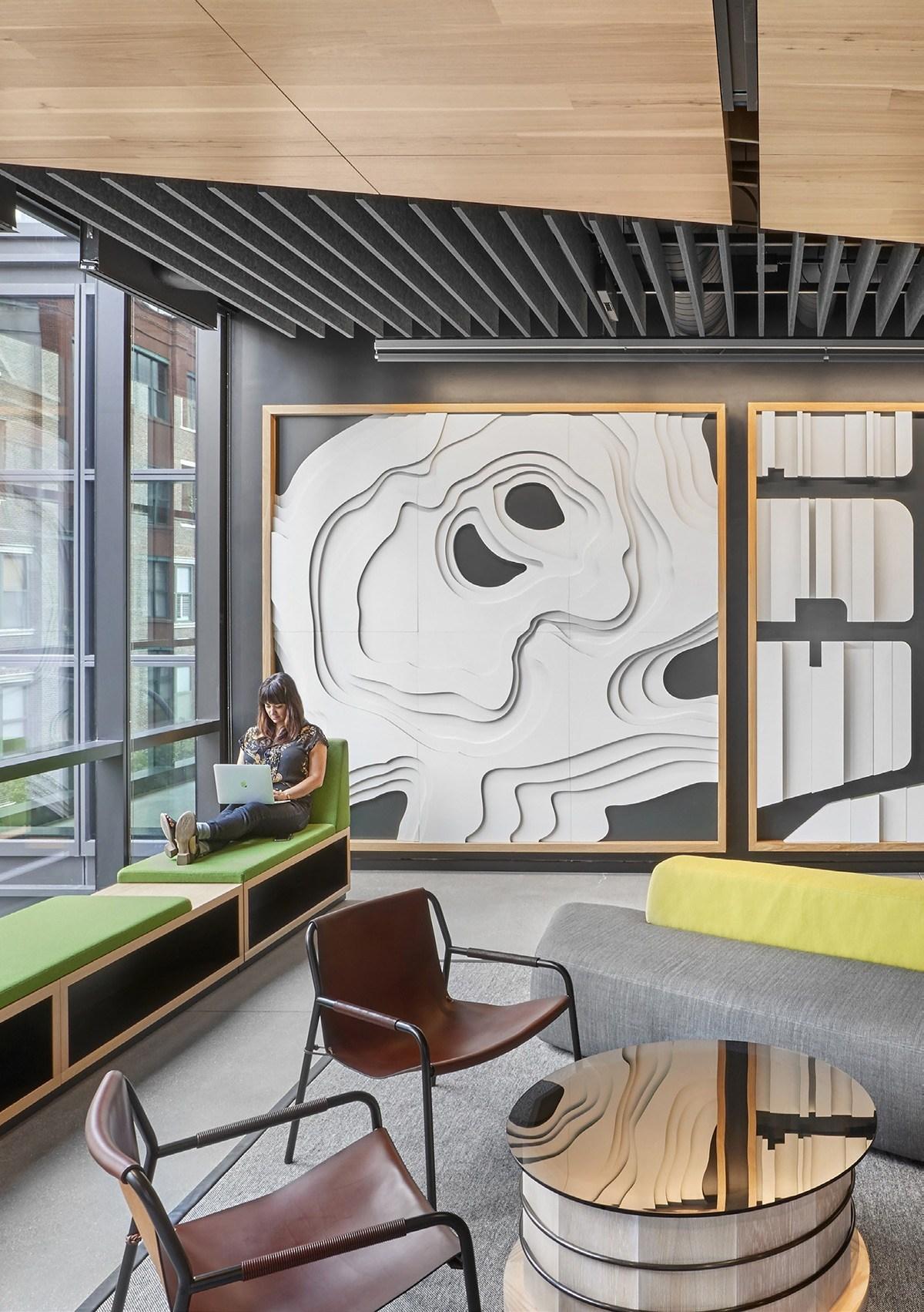 Lounge zóna z udržitelných materiálů