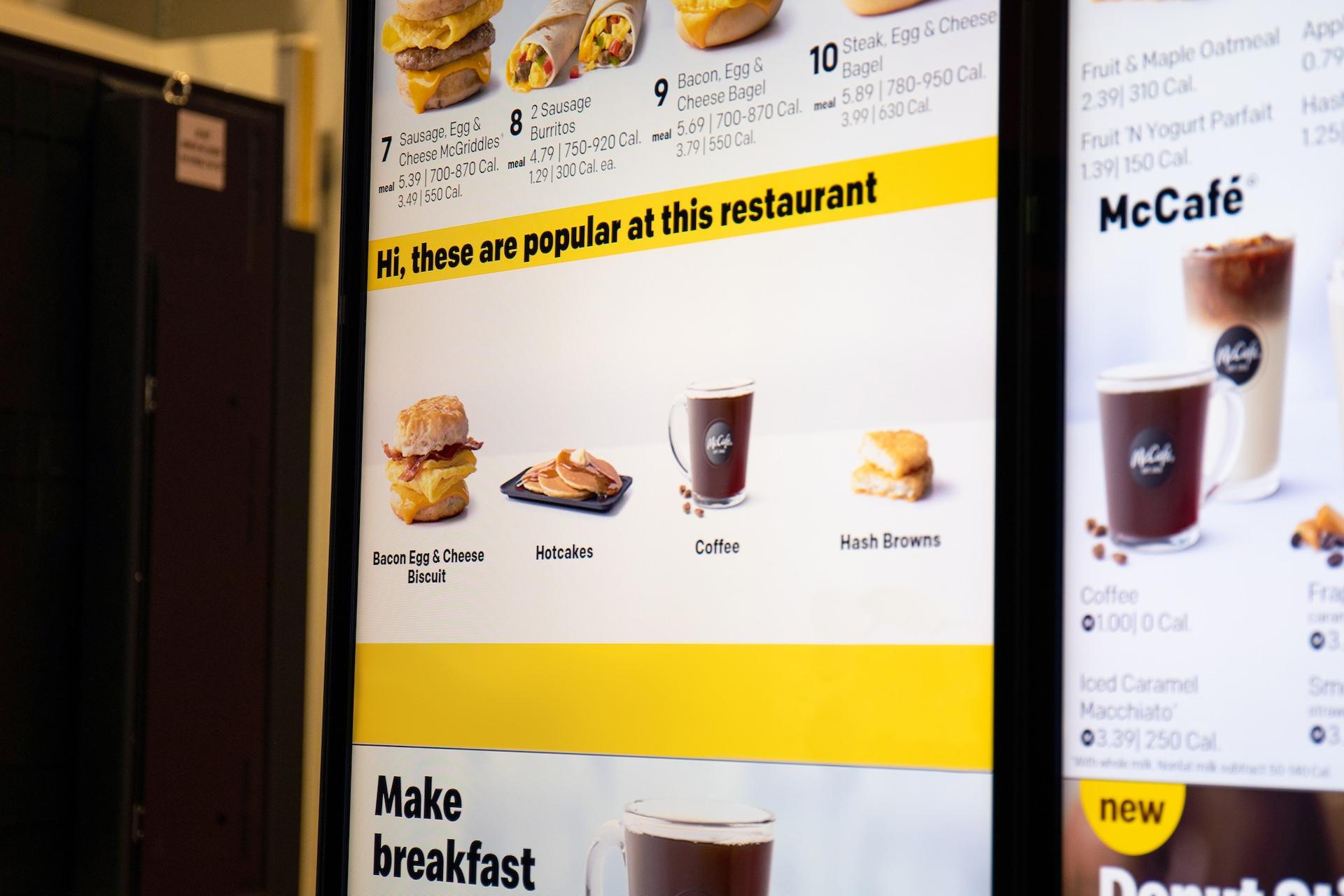 McDonald's nabídku přizpůsobí dané lokalitě, počasí nebo rychlosti