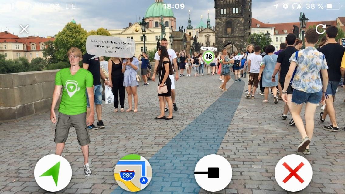 Prostředí virtuálního průvodce SmartGuide